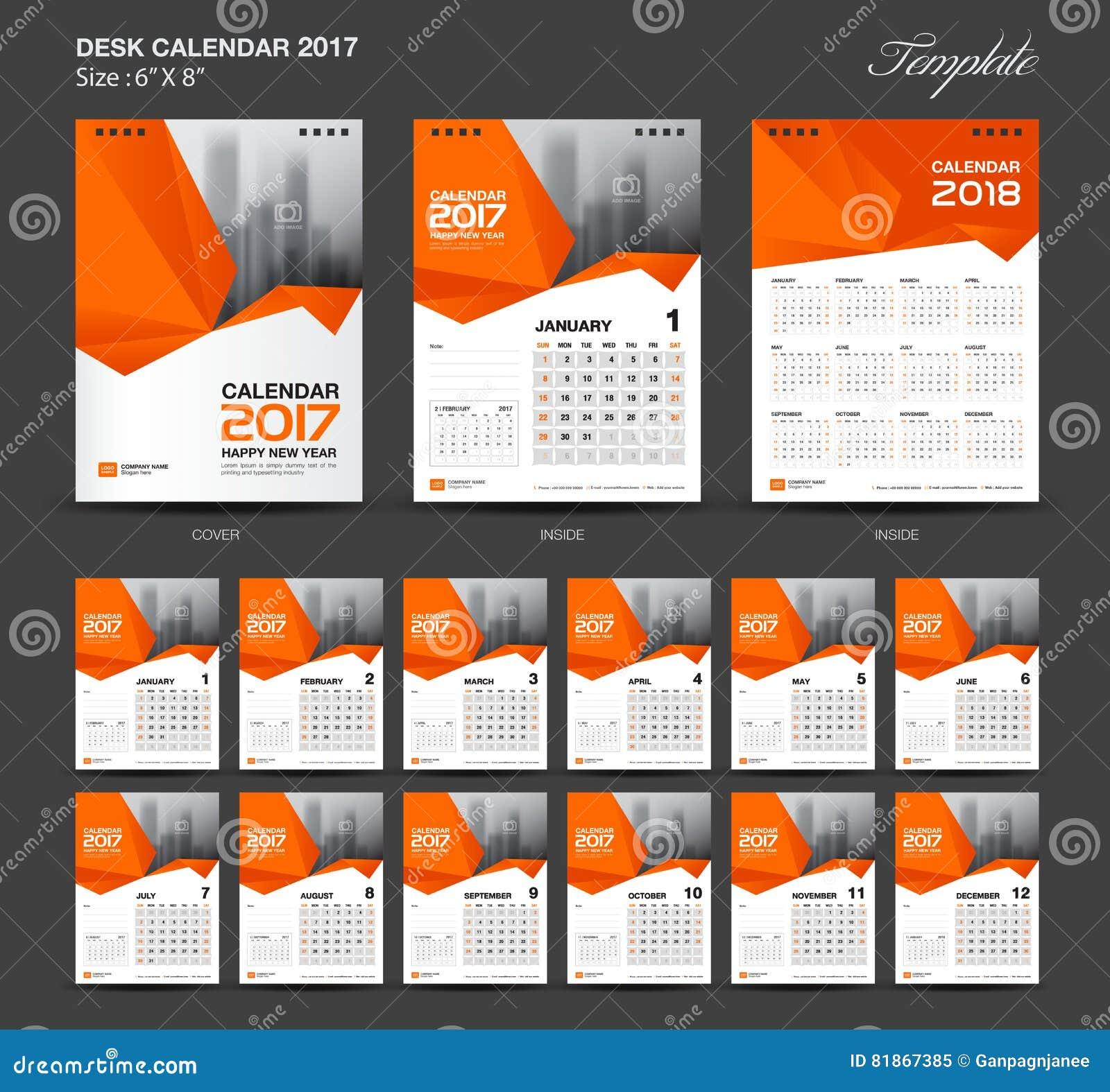 Calendar Design Size : Desk calendar vector design template set of