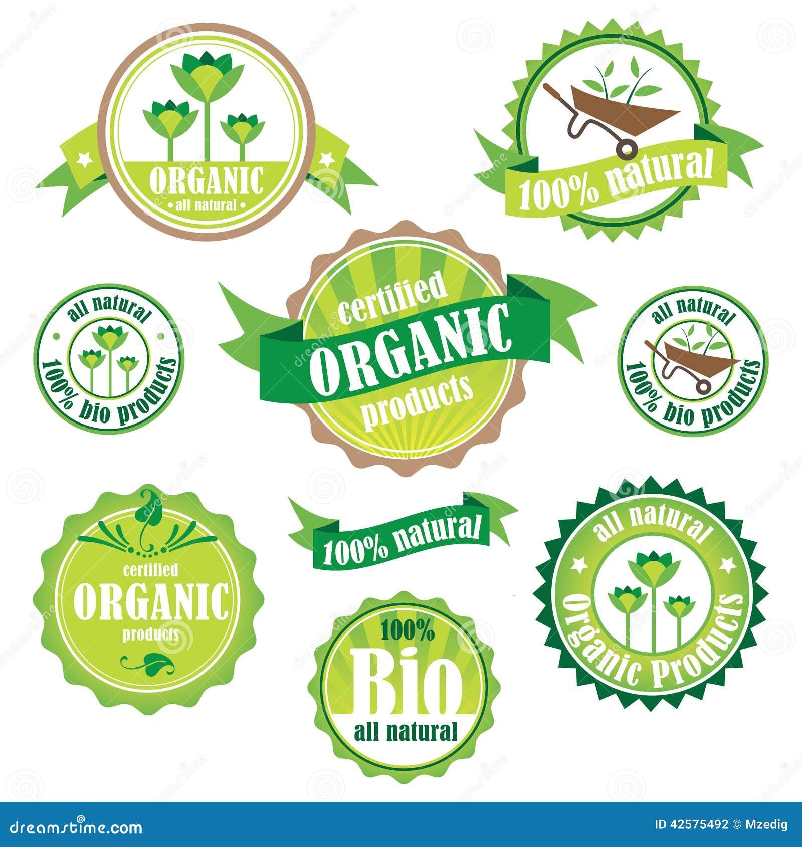 organic natural logos vector illustration