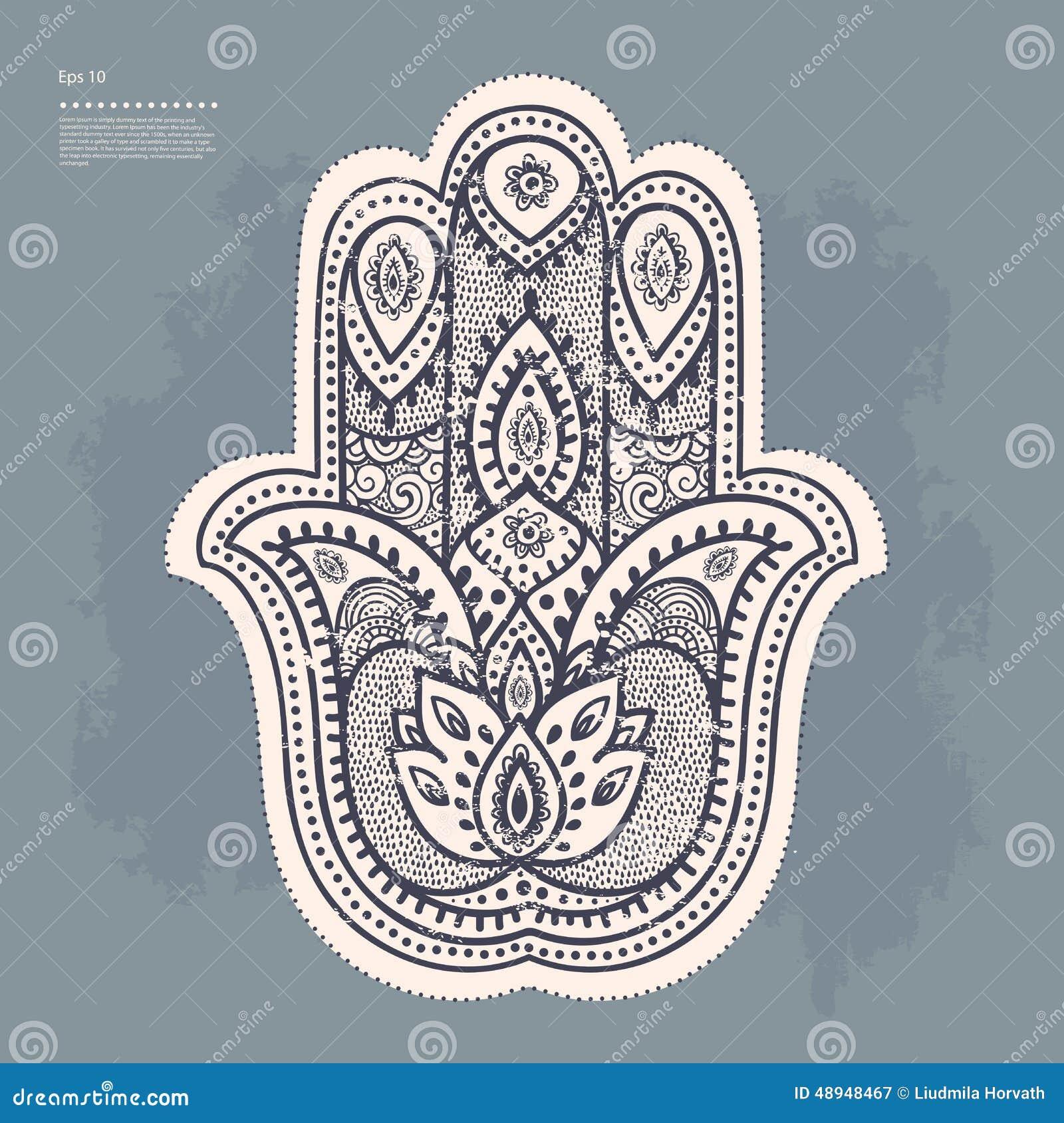 Set Of Ornamental Indian Symbols Stock Vector Illustration Of