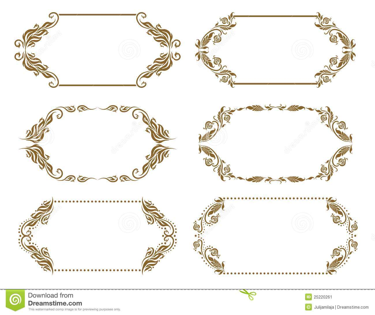 Set Of Ornate Vector Frames Stock Image - Image: 25220261