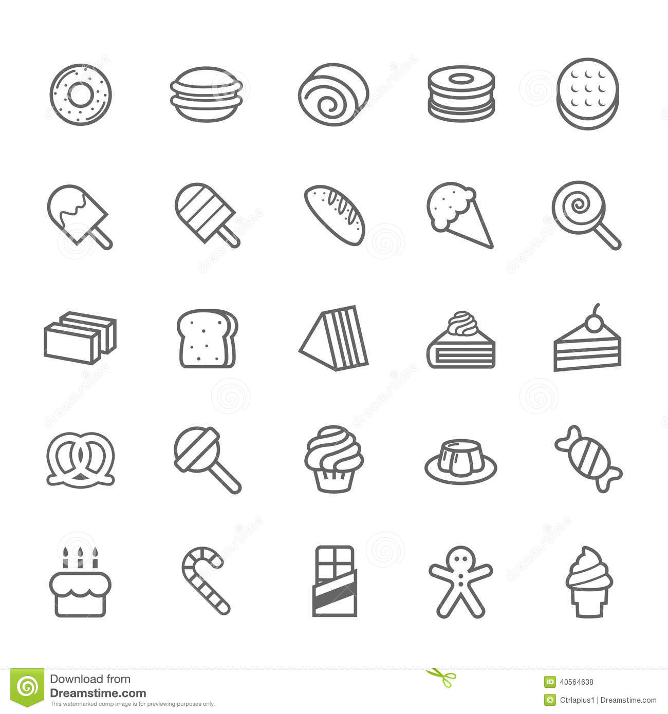 Sweet twins royalty free stock photo image 10320675 - Set Of Outline Stroke Dessert And Sweet Icon Royalty Free Stock Photos