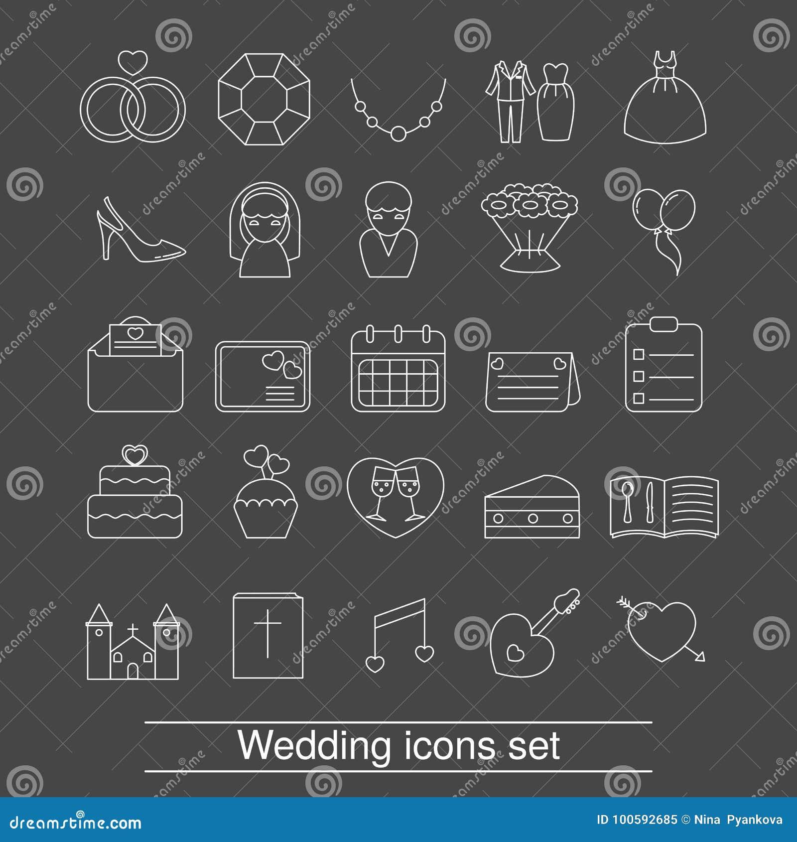 Outline web icon set stock vector illustration of calendar 100592685 download comp stopboris Images