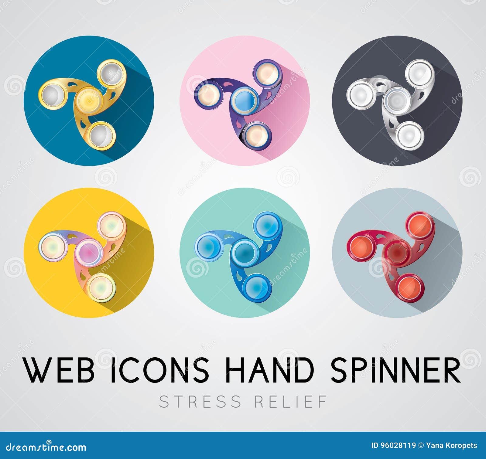 Set płaski projekt ikon ręki kądziołek