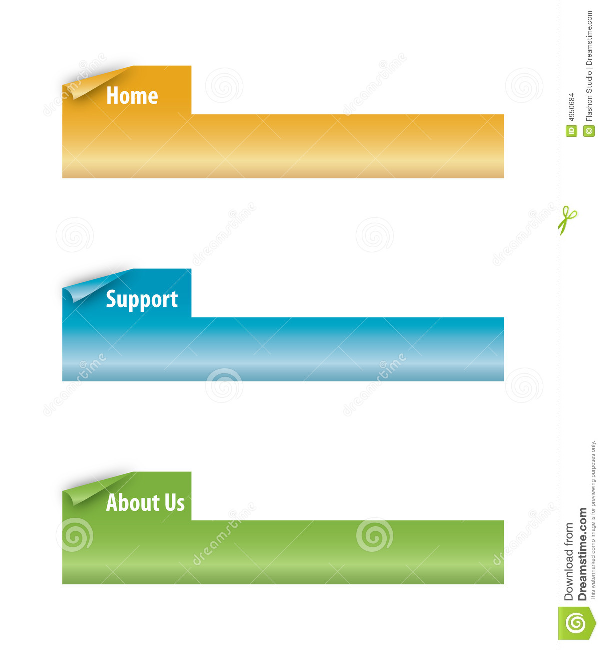 Photo Page: Set Of Page Curl Tabs Stock Vector. Image Of Icon