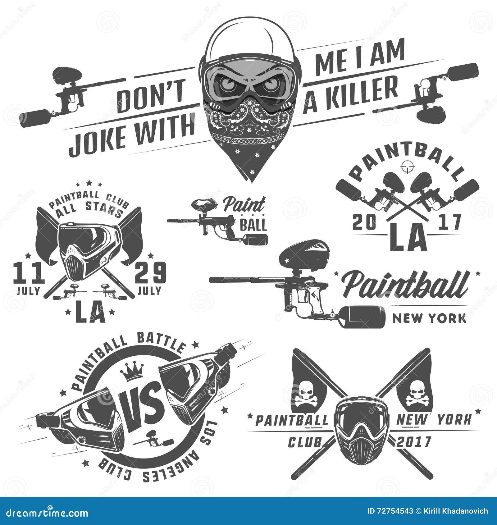Set paintball, paintball projekt, paintball tatuaż