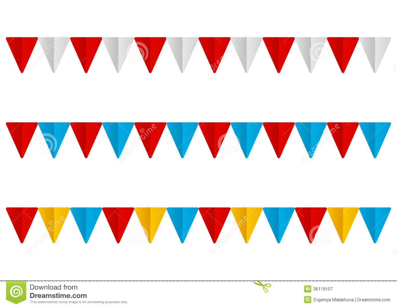set of paper flags stock vector illustration of design 36119107