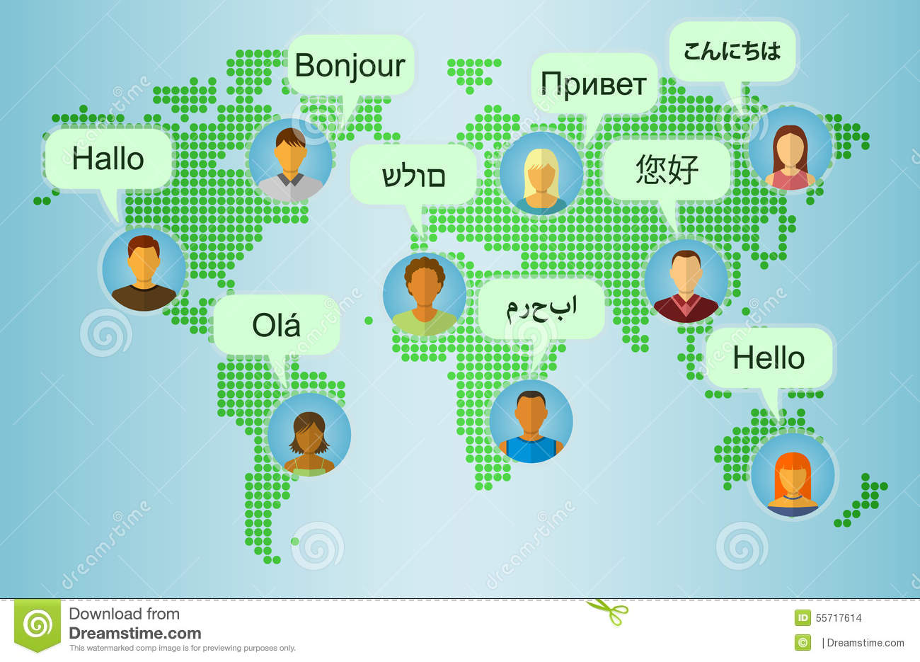 Set of people icons on earth map background stock vector download set of people icons on earth map background stock vector illustration of communication m4hsunfo