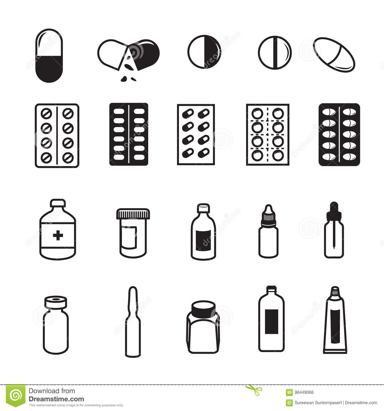 Set of pharmaceutical icons stock vector illustration of set of pharmaceutical icons biocorpaavc Images