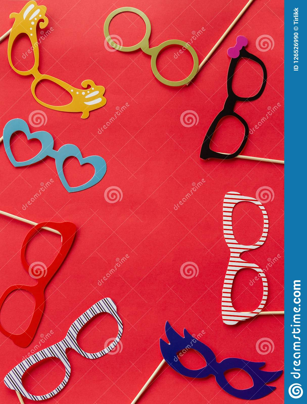 Set Accessories For Wedding And Birthday Parties Stock
