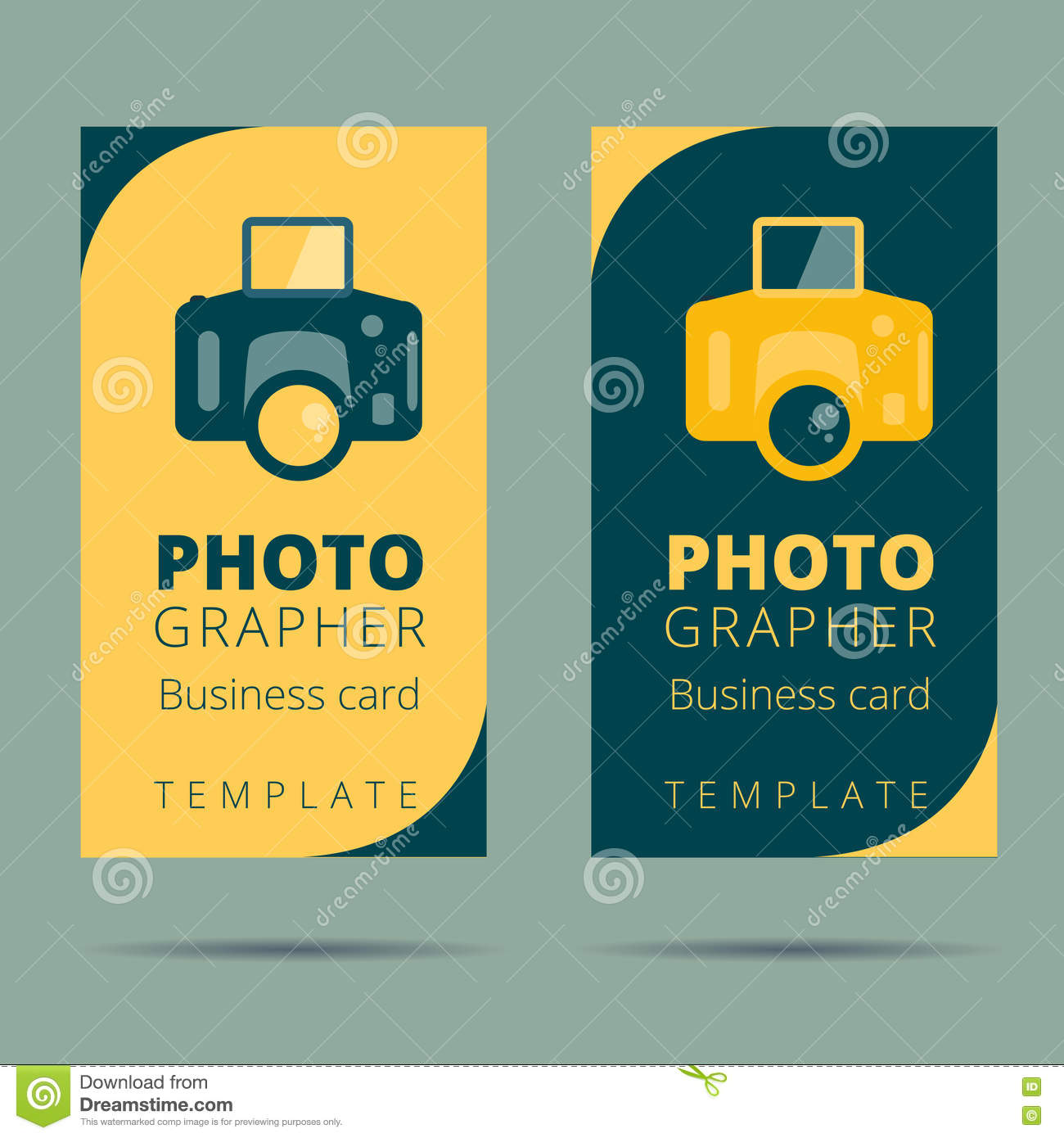 Logo and business card template for creative studio stock vector set of photographer photo studio business card design template royalty free stock photos reheart Images
