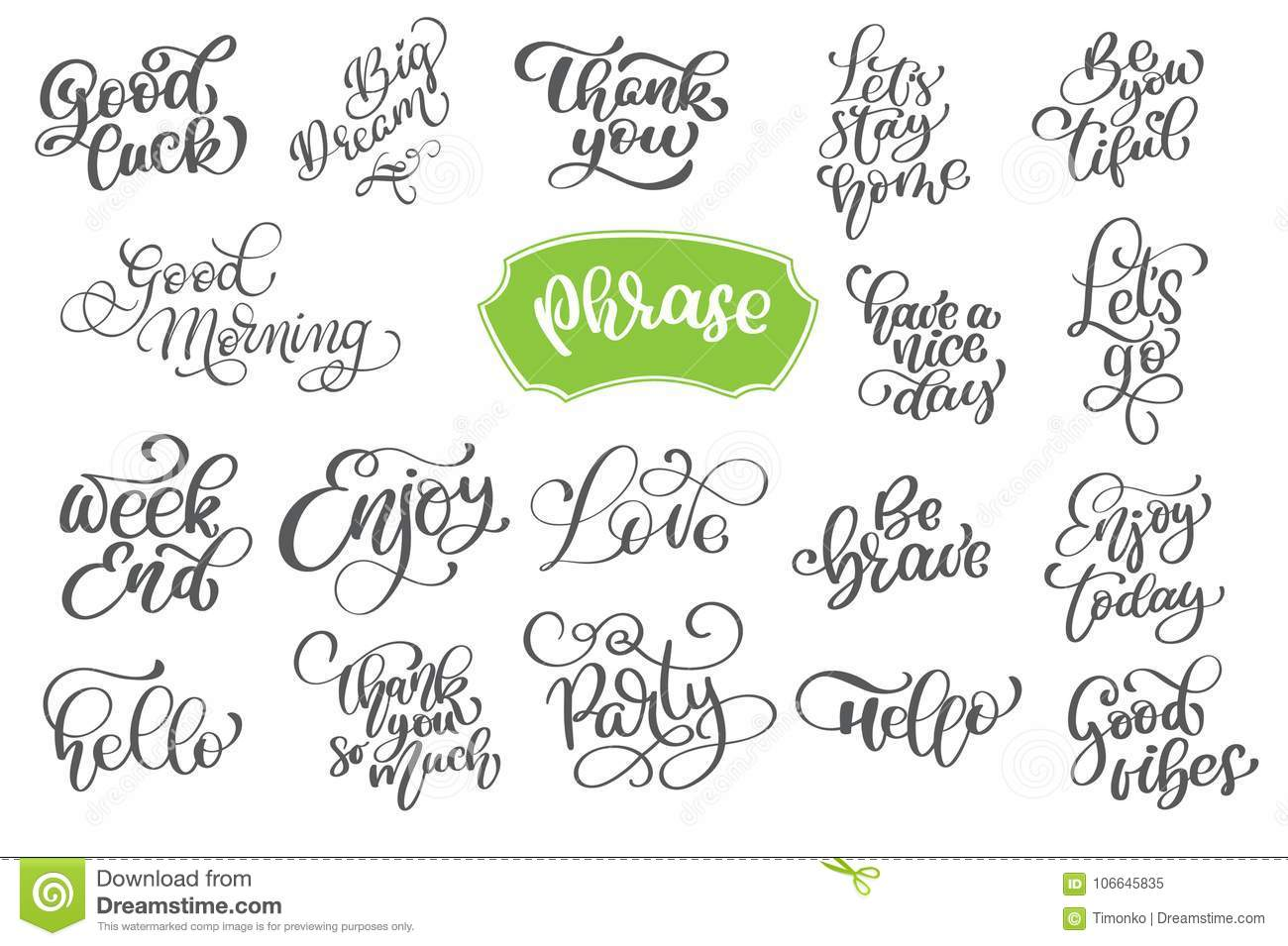 Set phrase of vector inspirational and motivational lettering for download set phrase of vector inspirational and motivational lettering for greeting cards decoration prints m4hsunfo