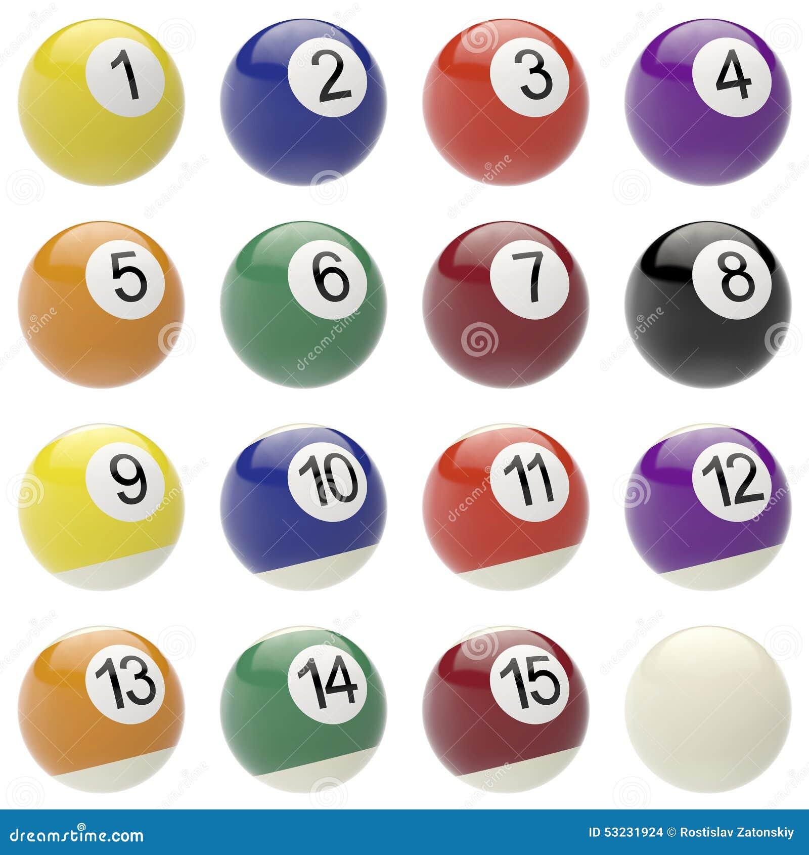 Set piłki dla billiards