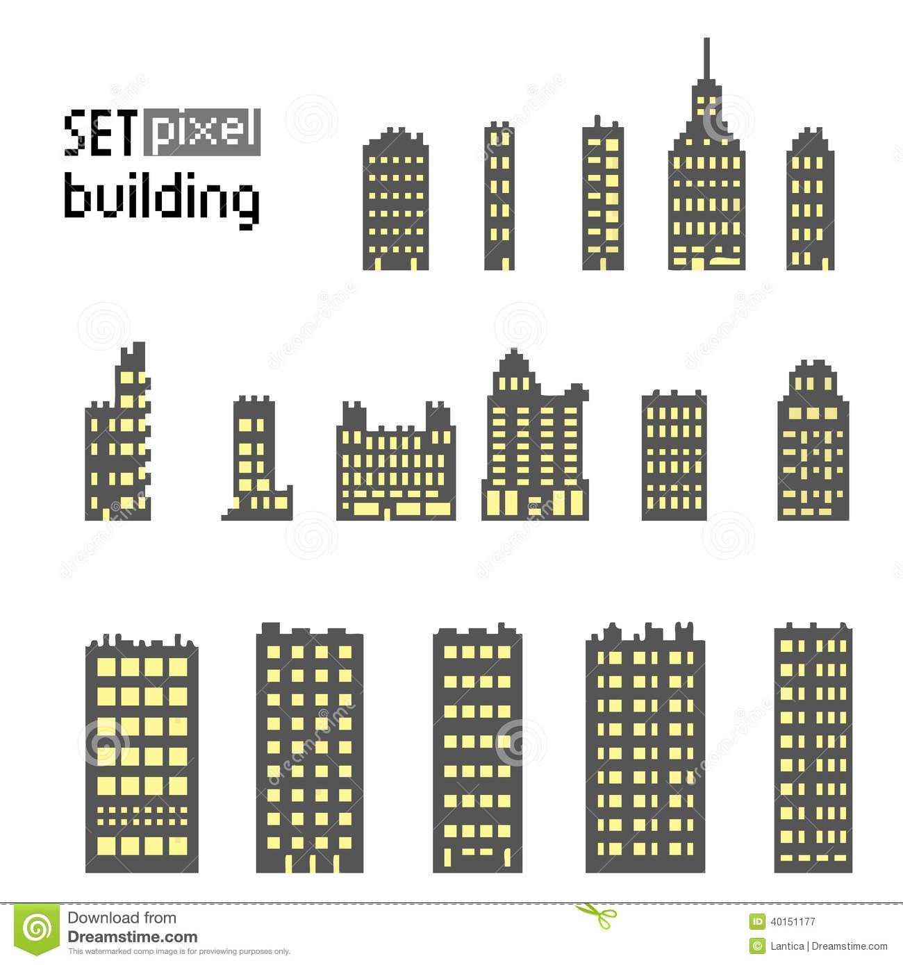 Royalty Free Stock Photography Set Pixel Building Skyscraper Isolated White Background Image40151177 besides Unity 2d Background Sprite For All Mobile Device Resolution likewise Mushroom Village Process furthermore 3005 21354 besides Flat Design. on 2d pixel house