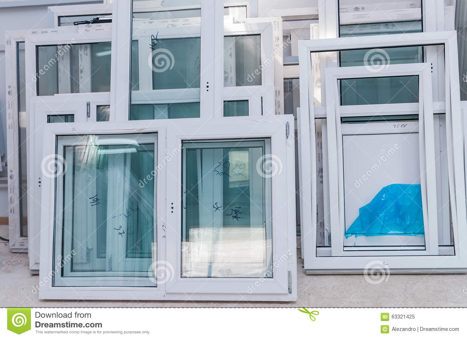 How to adjust the plastic windows