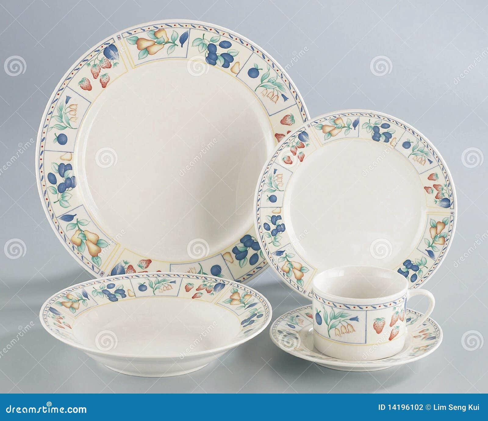 set of plates stock photography image 14196102