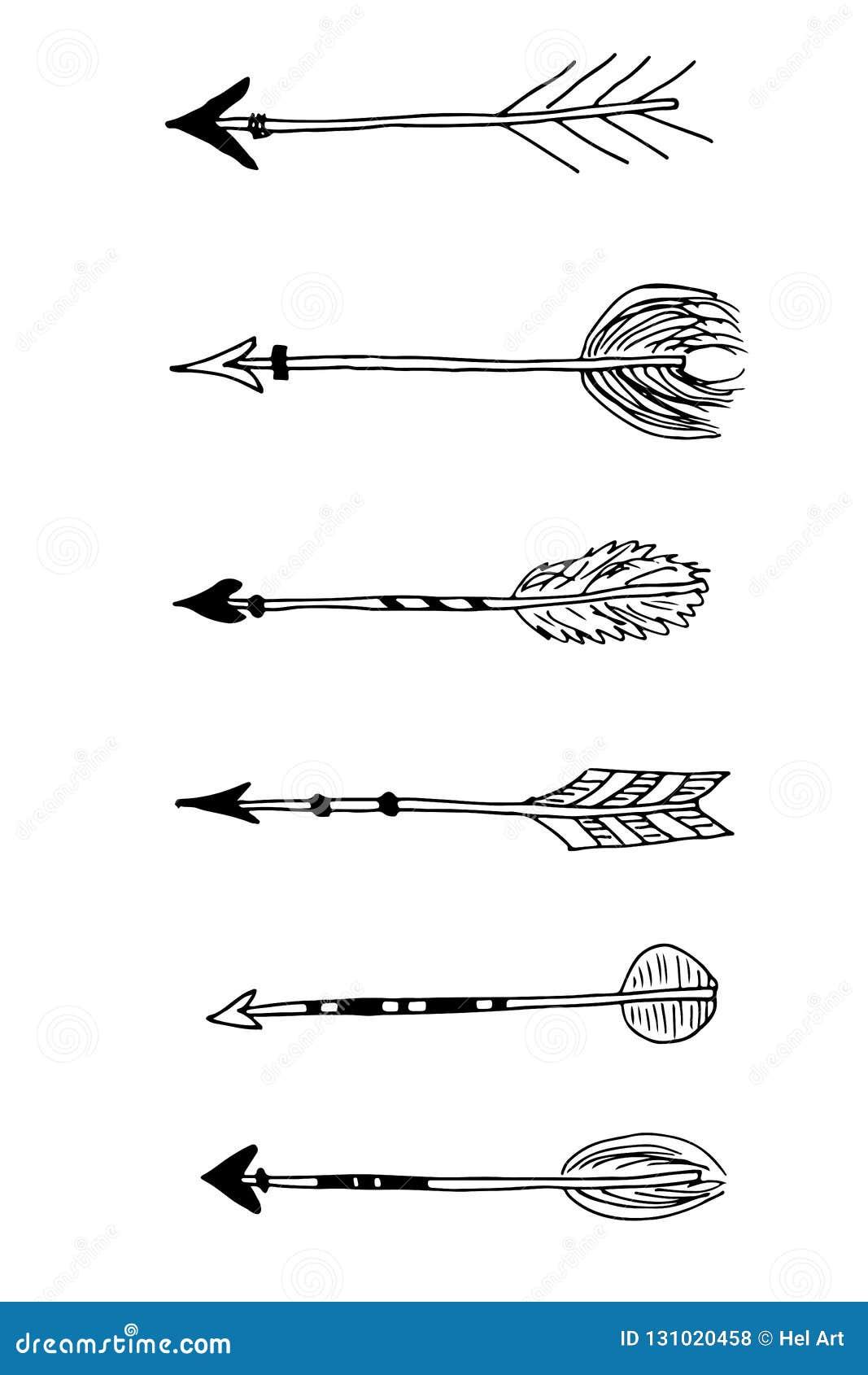 Set Plemienne czarnej ręki rysować strzały
