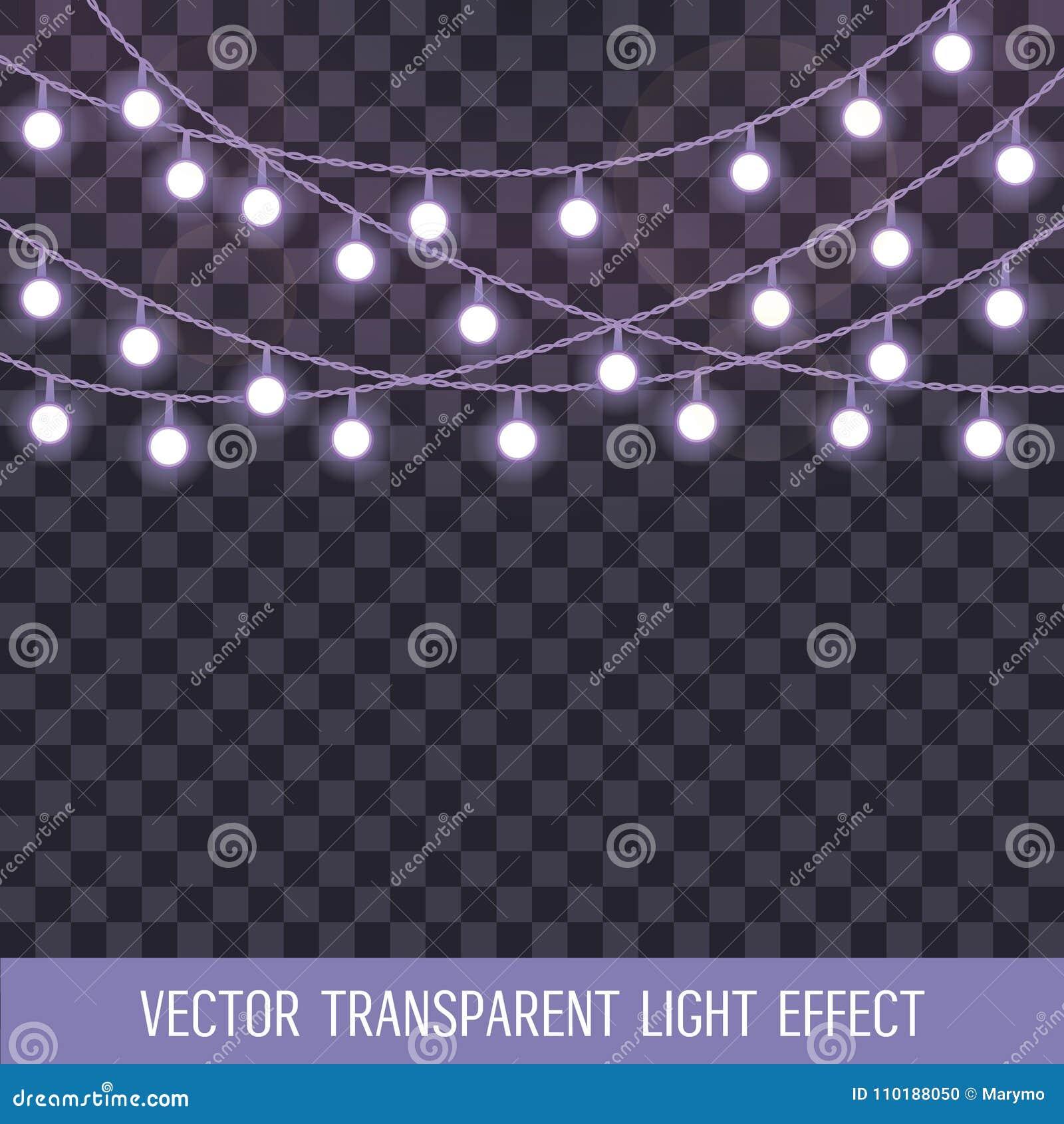 Set pokrywać się, rozjarzony sznurek zaświeca na przejrzystym tle również zwrócić corel ilustracji wektora