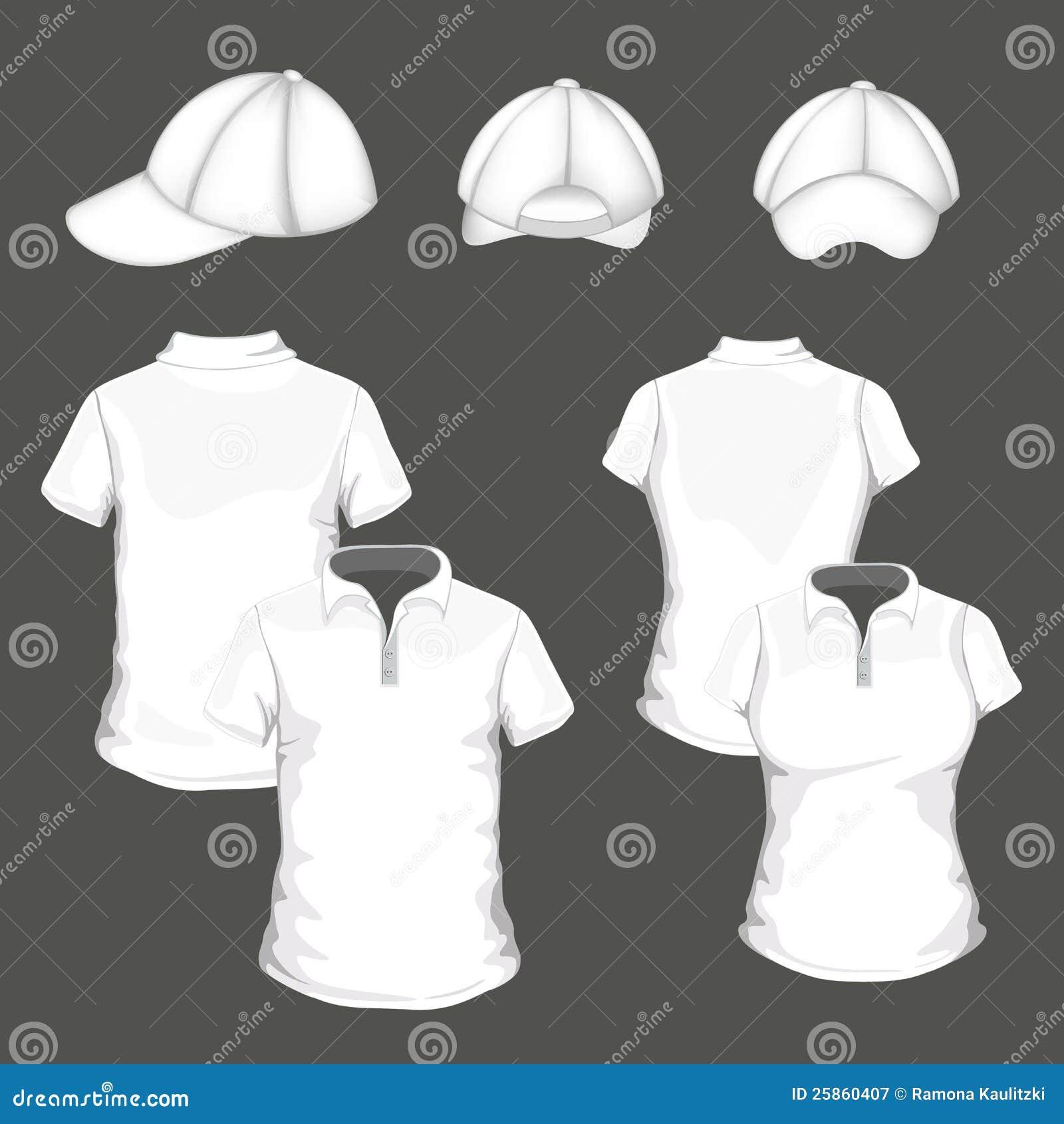 Set With Polo Shirt An Baseball Cap Templates Royalty Free