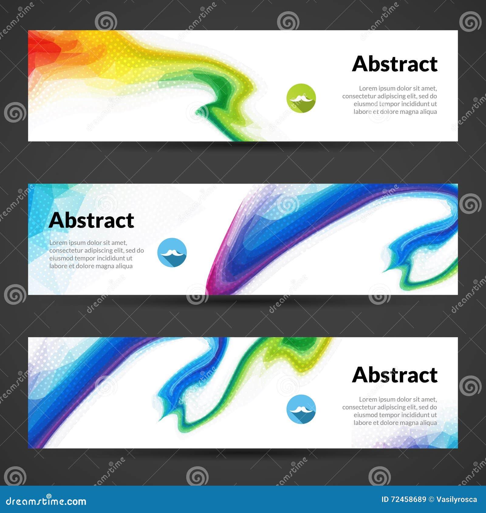 Design vector banner - Set Of Polygonal Vector Banners Backgrounds For Modern Graphic Design Banner Design Royalty Free Stock