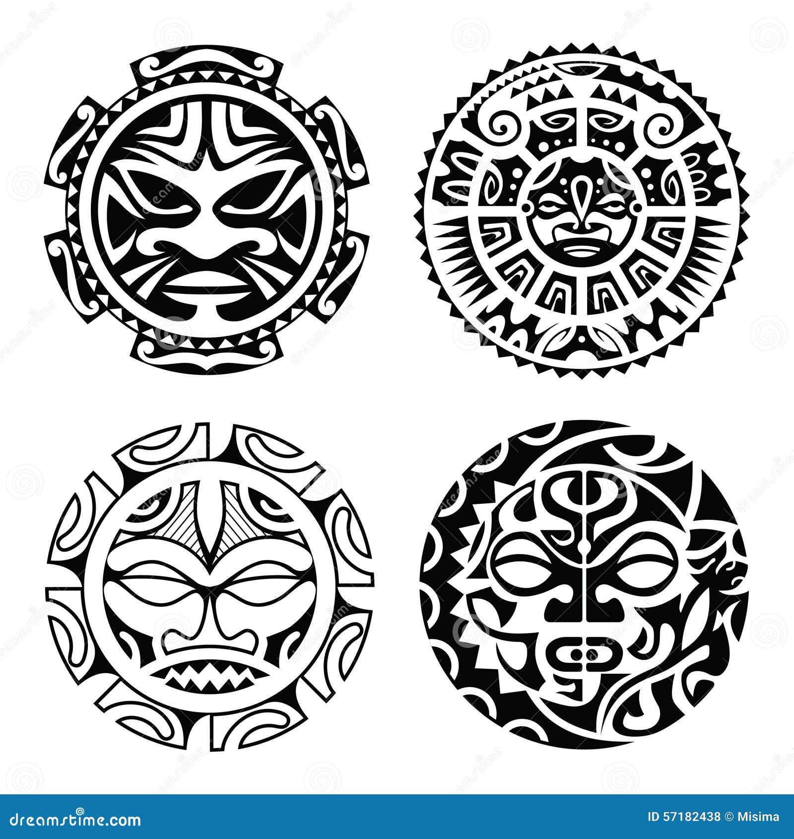 Set Of Polynesian Tattoo Stock Vector Illustration Of Decoration