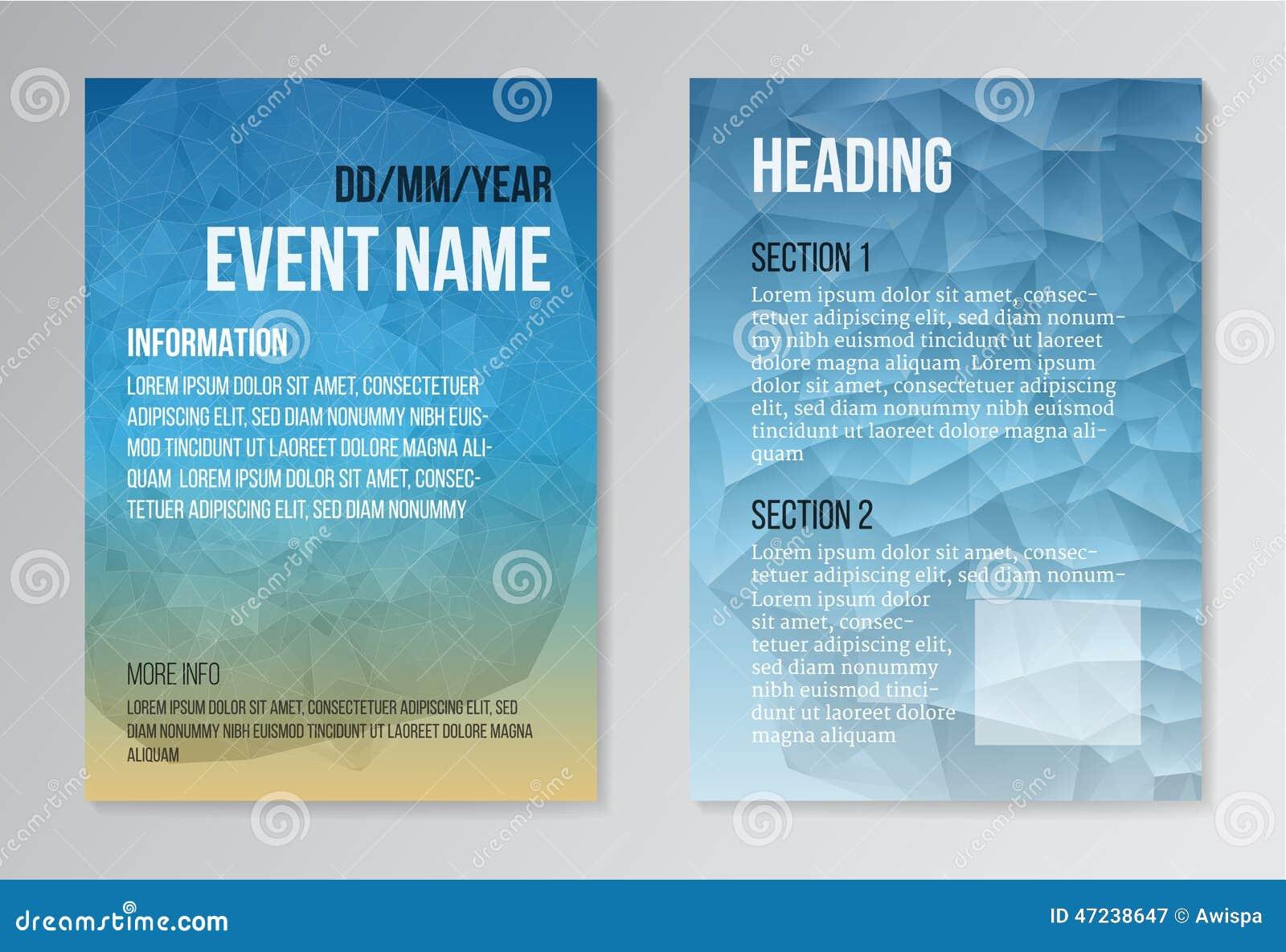 D d poster design - Set Of Poster Brochure Design Templates Stock Vector