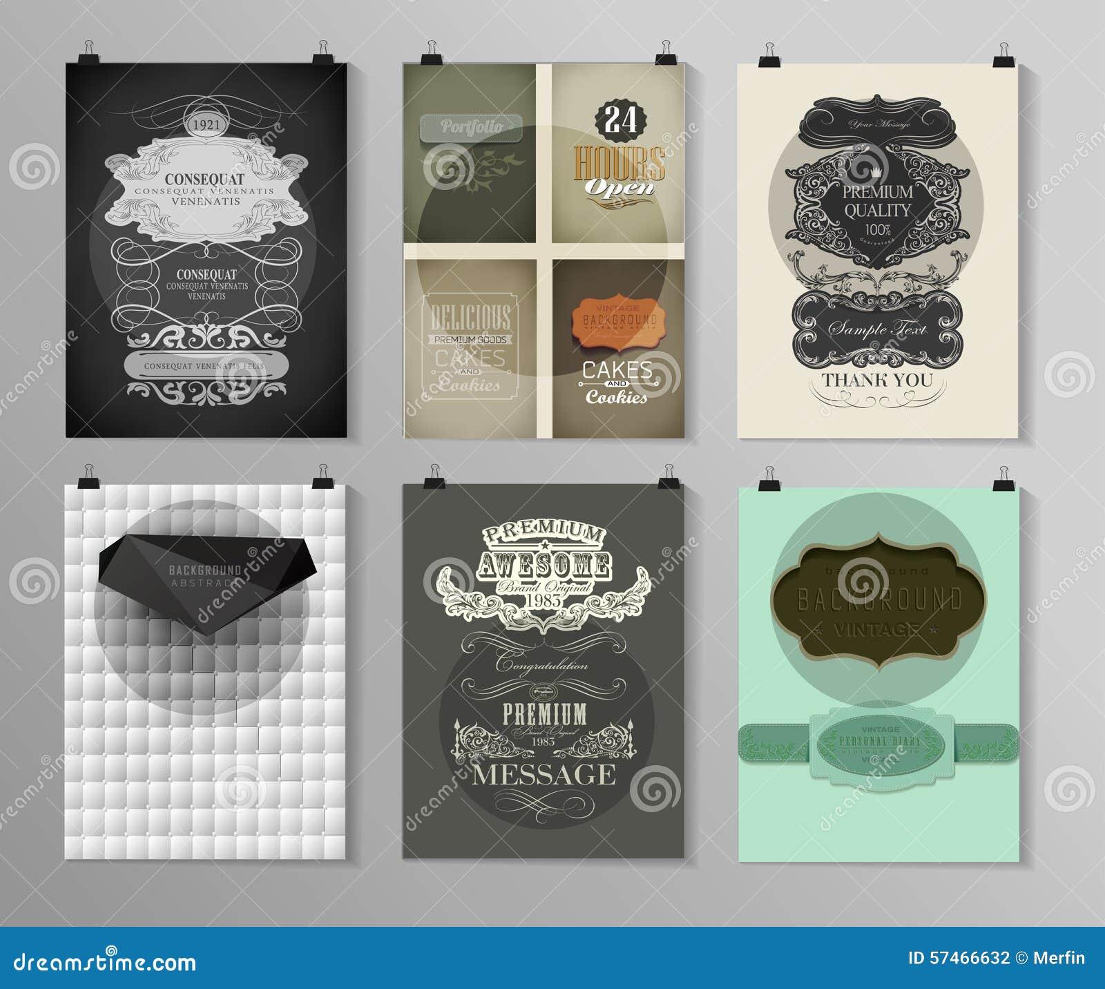 set of poster flyer brochure design templates stock vector
