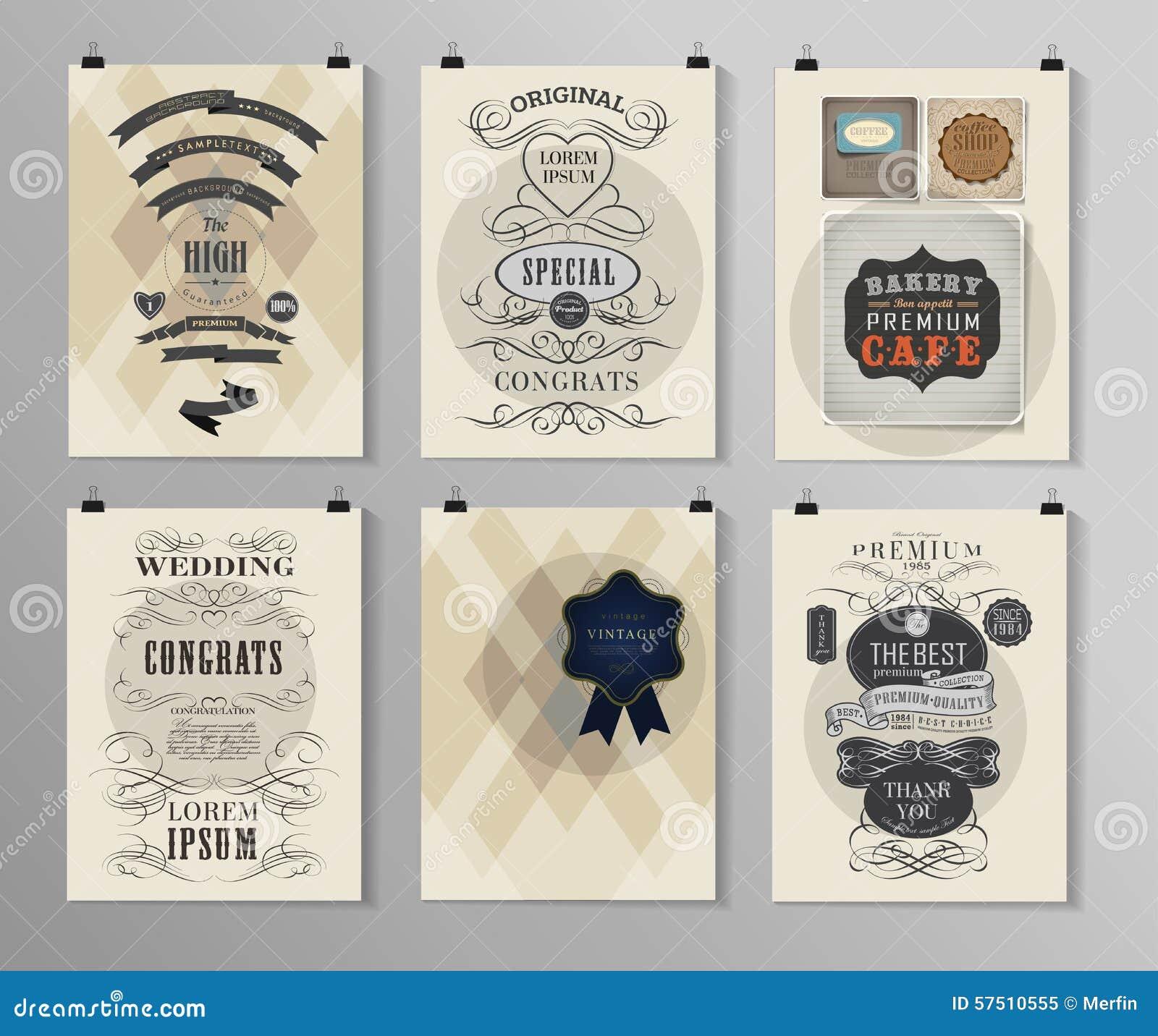 Set Of Poster Flyer Brochure Design Templates Stock