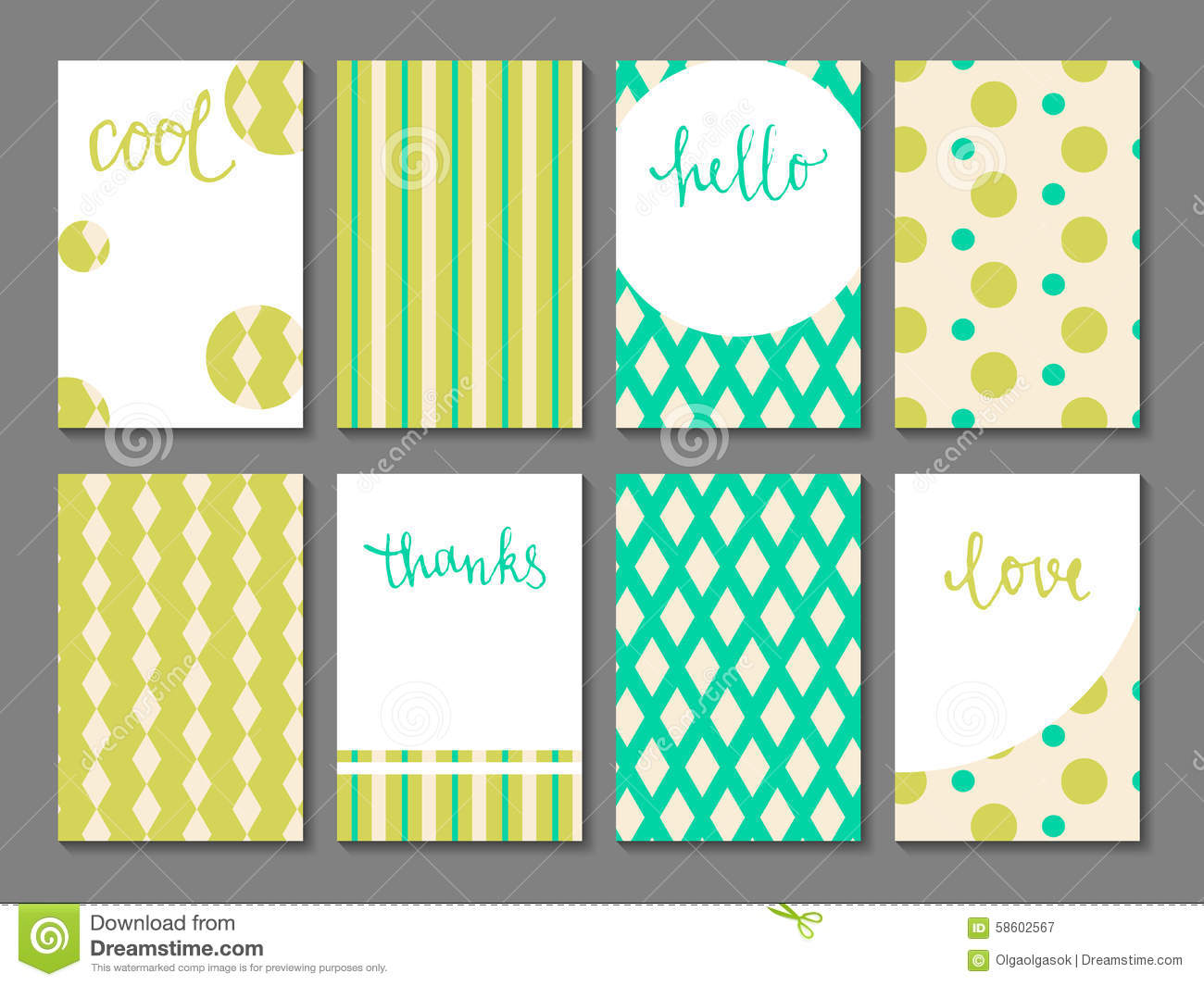 Set Of Printable Journaling Cards Stock Vector - Image ...