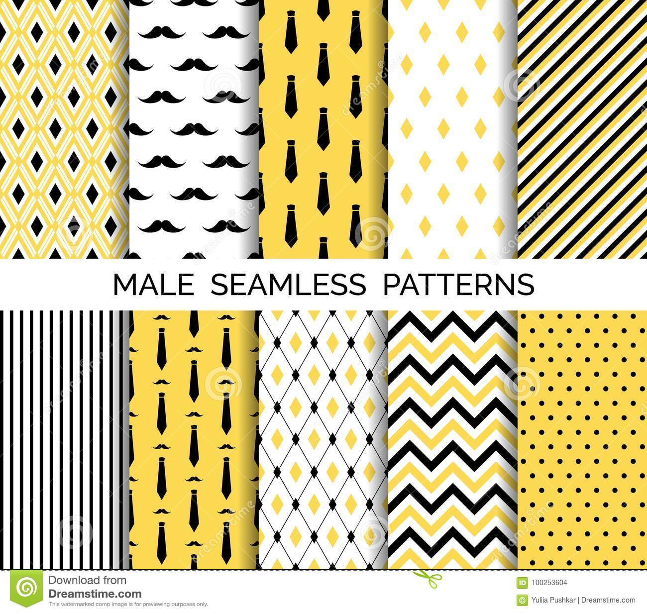 graphic regarding Patterns Printable identify Preset Of Printable Vector Person Seamless Types. Black And