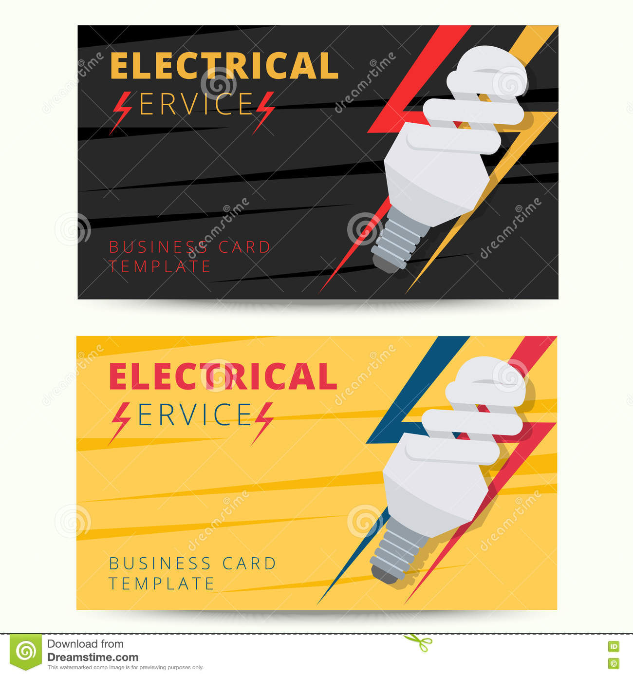 electrician services flyer template stock image image  set of professional electrician business card template vector e royalty stock image