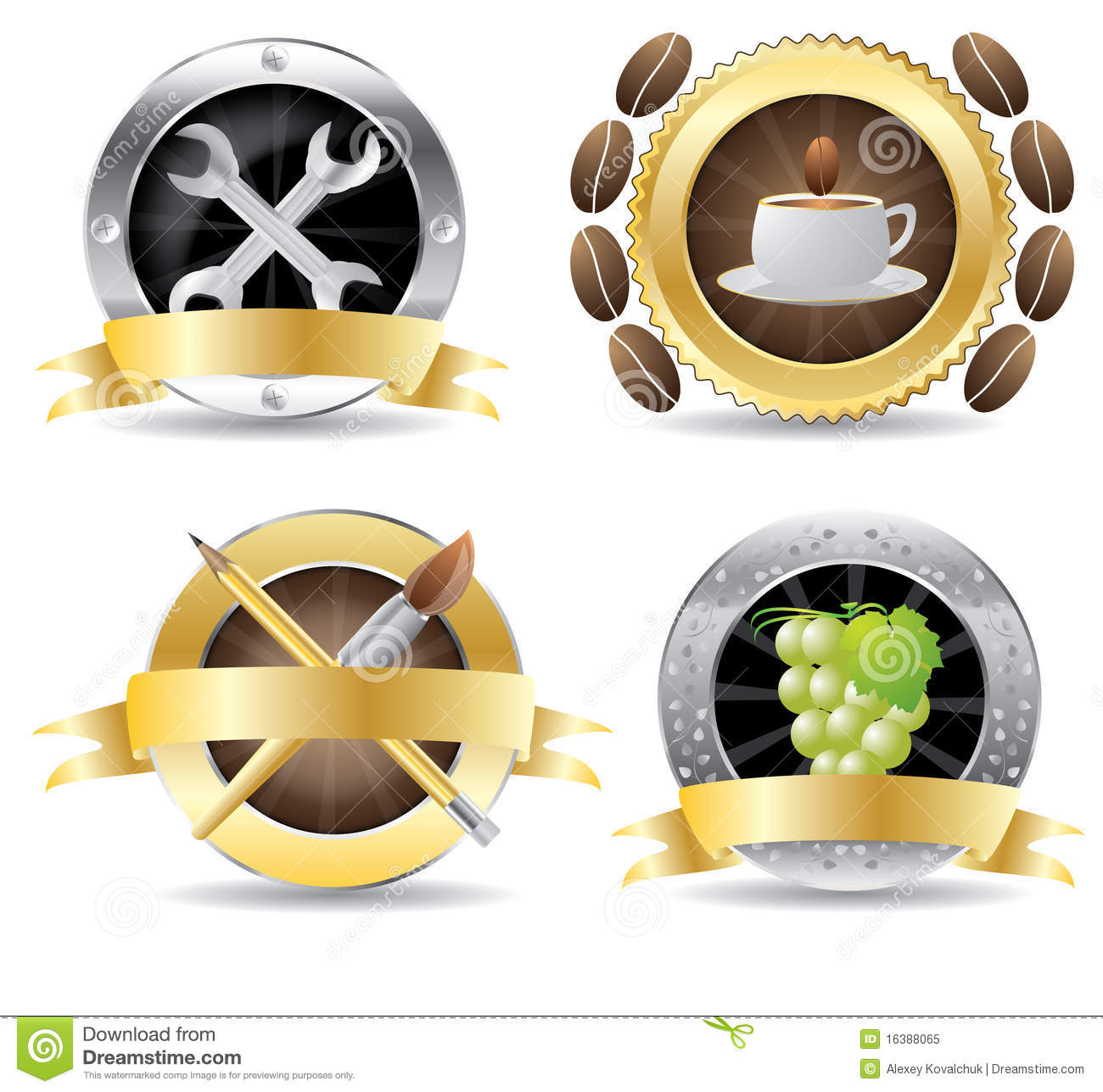 Set of professional icon vector on a isolated background