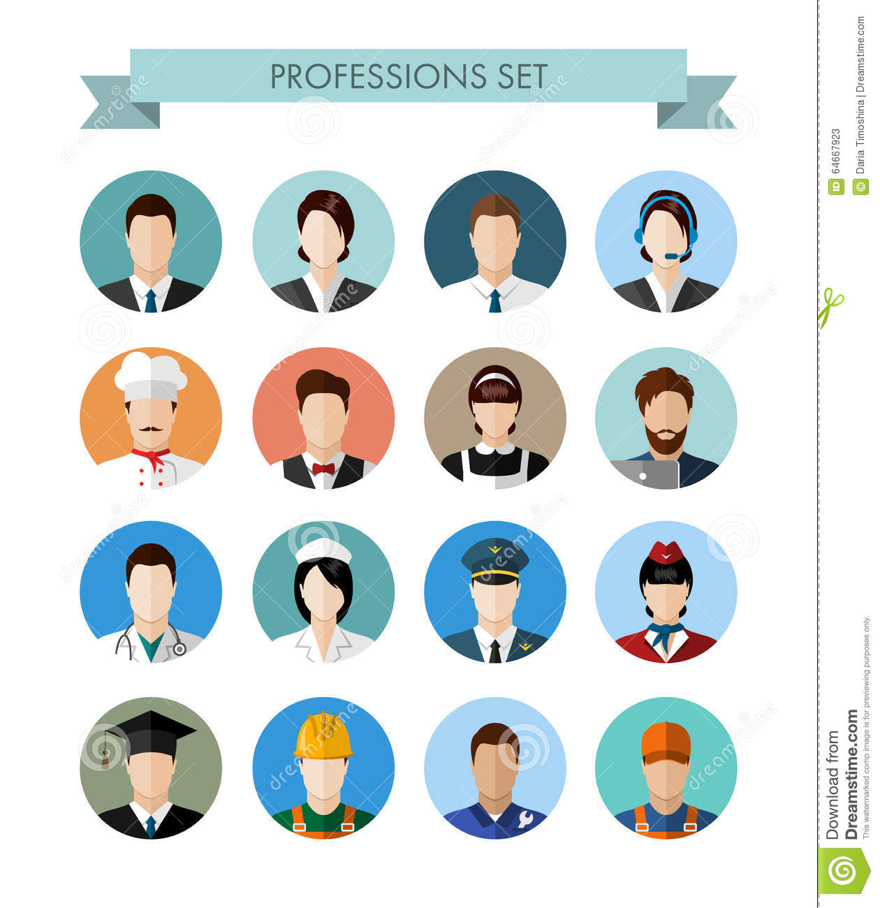 A set of professions people