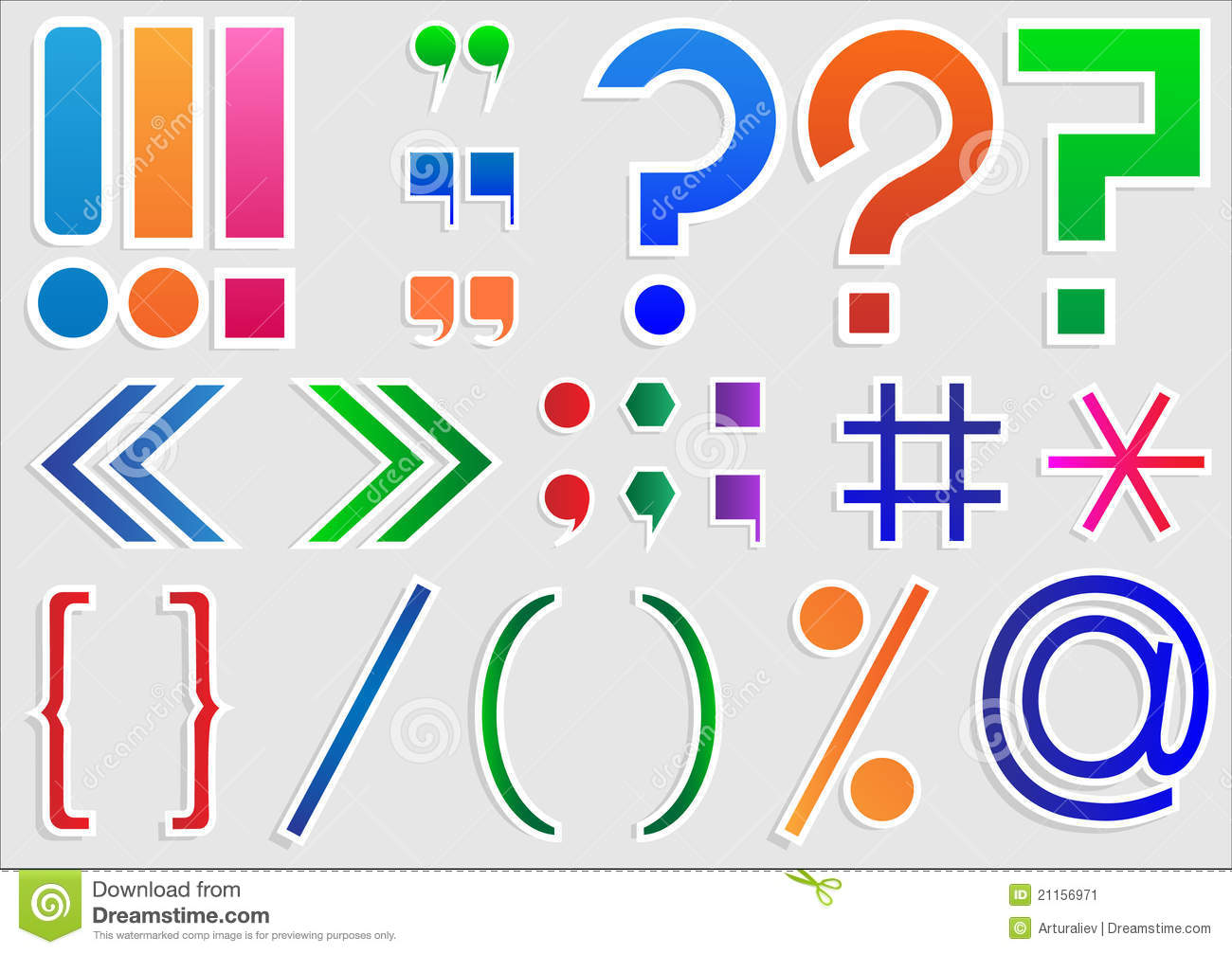 Set of punctuation marks stock illustration. Illustration ...