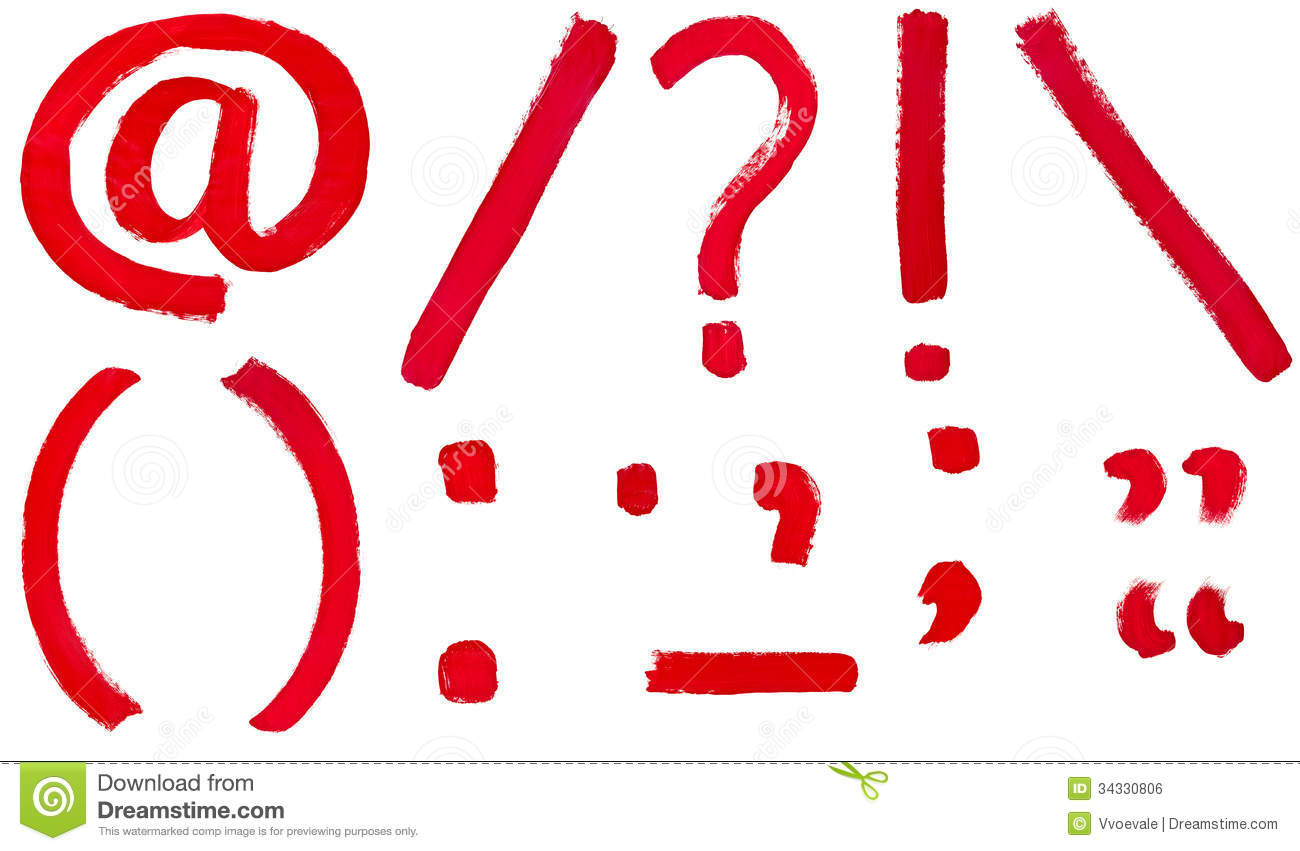 Question Punctuation Mark Set of punctuation marks