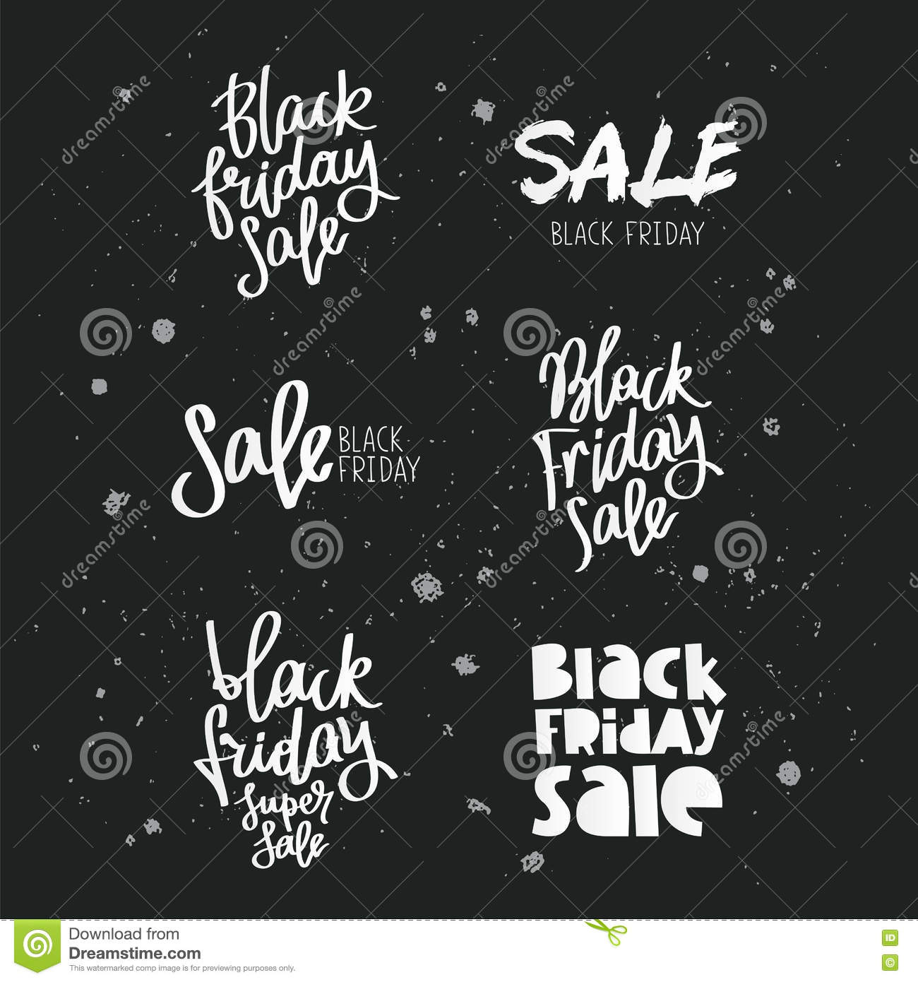 Set quotes on Black Friday stock vector. Illustration of ...
