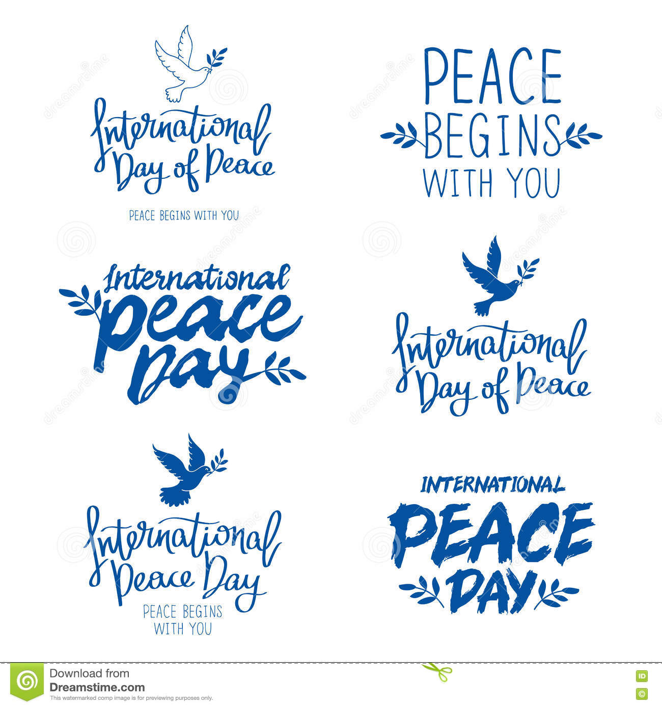 Peace Quotes: Set Of Quotes For The International Day Of Peace Vector