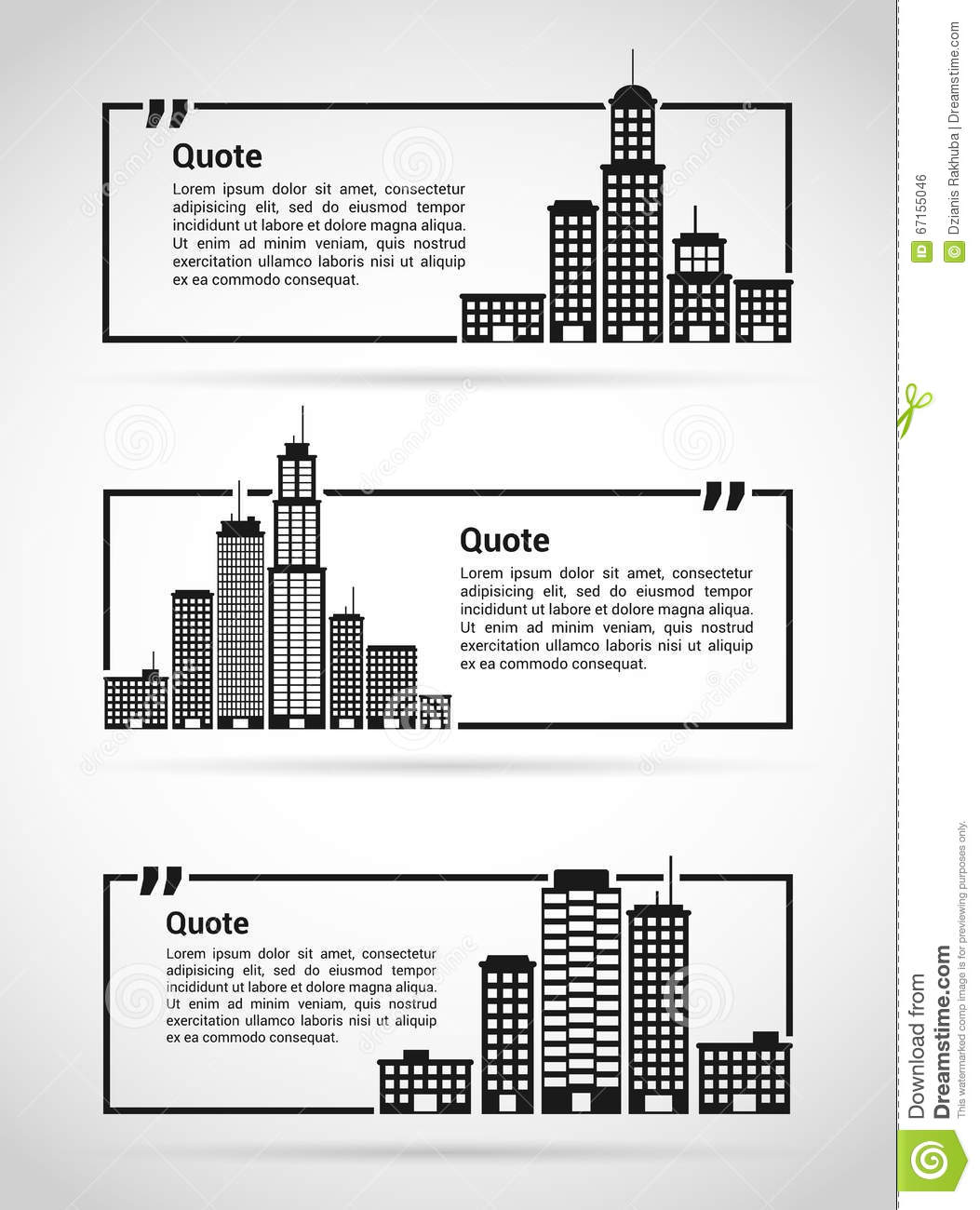 set of quotes templates stock vector illustration of comment 67155046