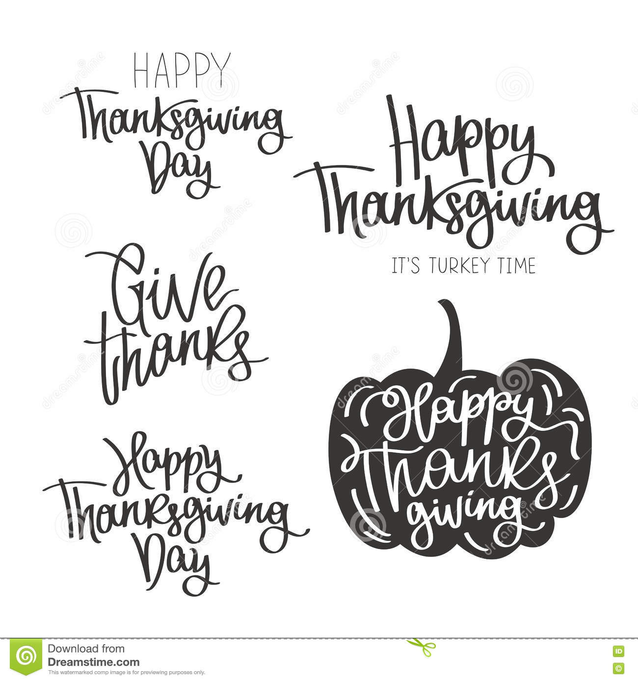 Set Of Quotes To The Happy Thanksgiving Day