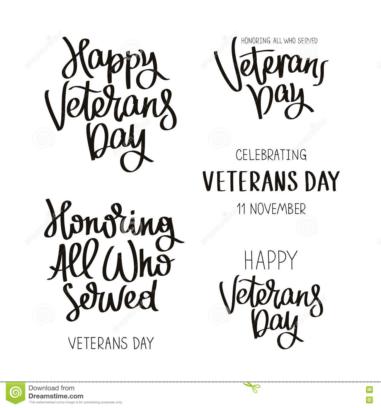 Set quotes to Veterans Day stock vector. Illustration of ...