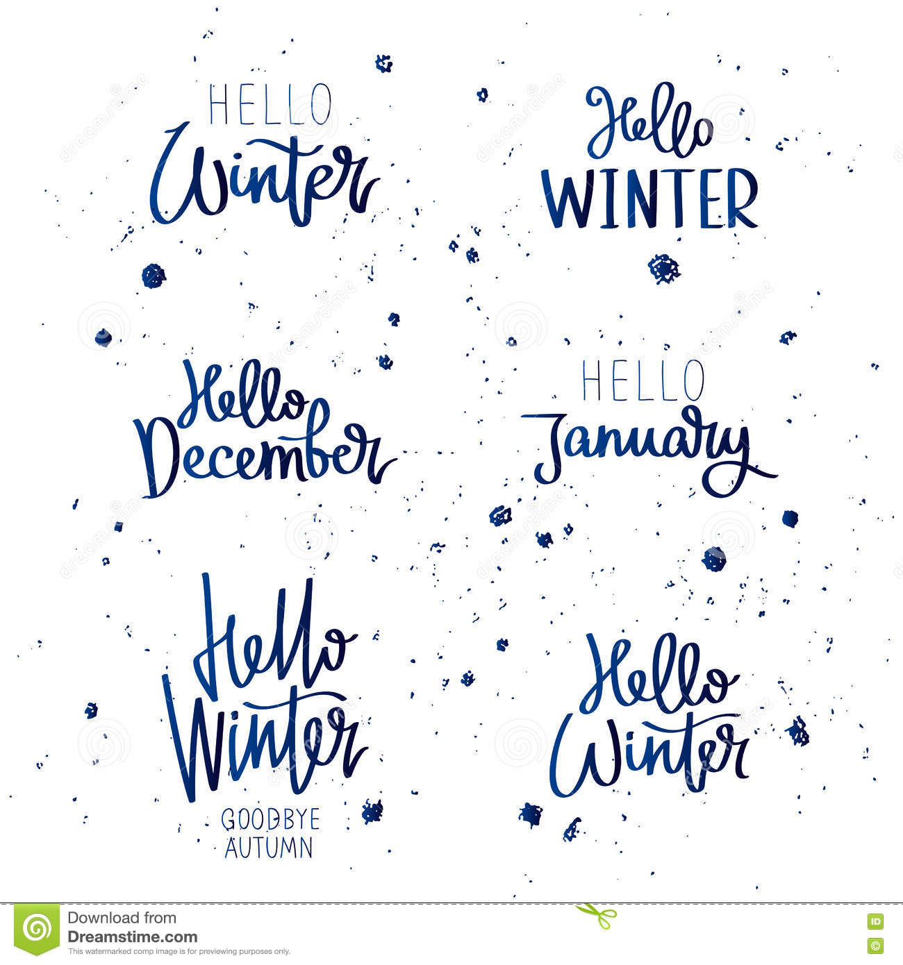 Set quotes about winter stock vector image of snow season 77109274 - Autumn plowing time all set for winter ...