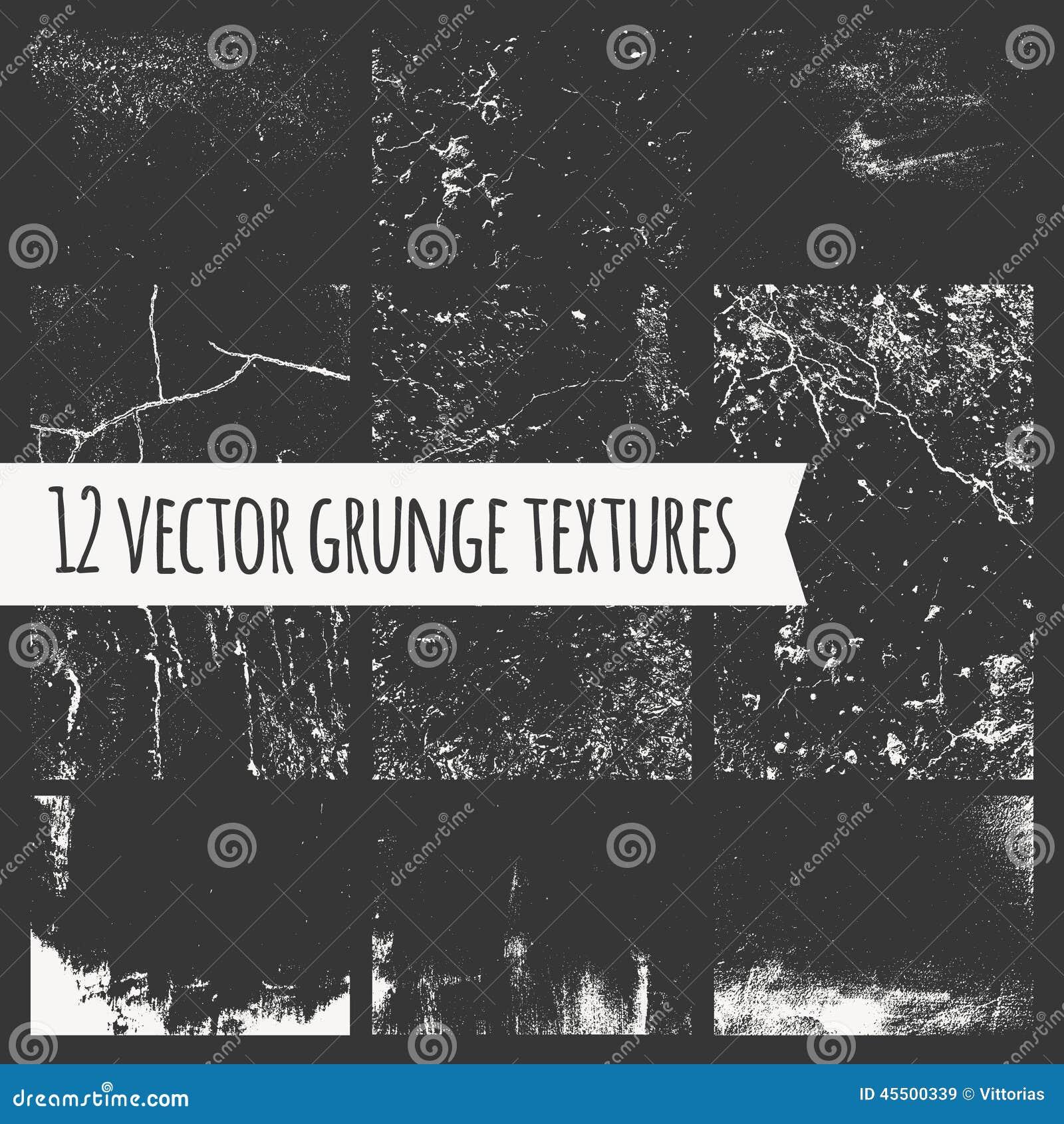 Set różne grunge tekstury
