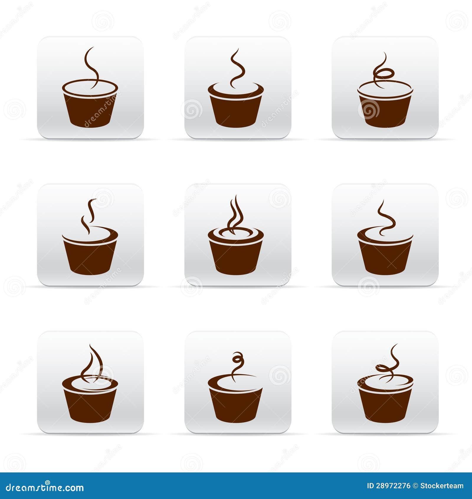 Set różne Kawowe ikony
