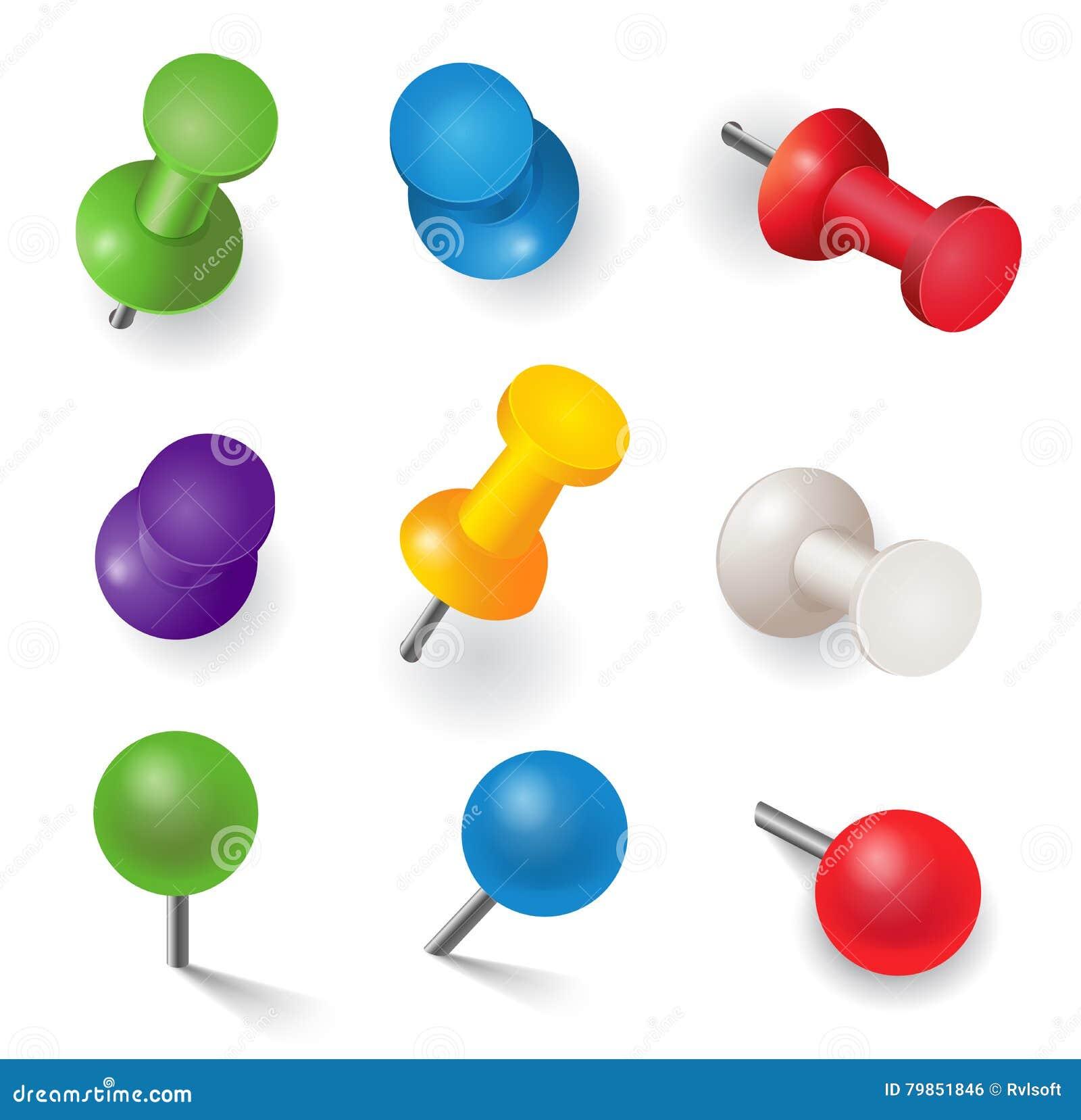 Set różne kolor szpilki