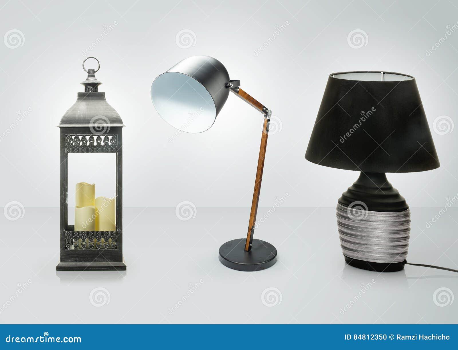 Set Różne Stołowe Lampy Dekoracyjne Biurko Lampy