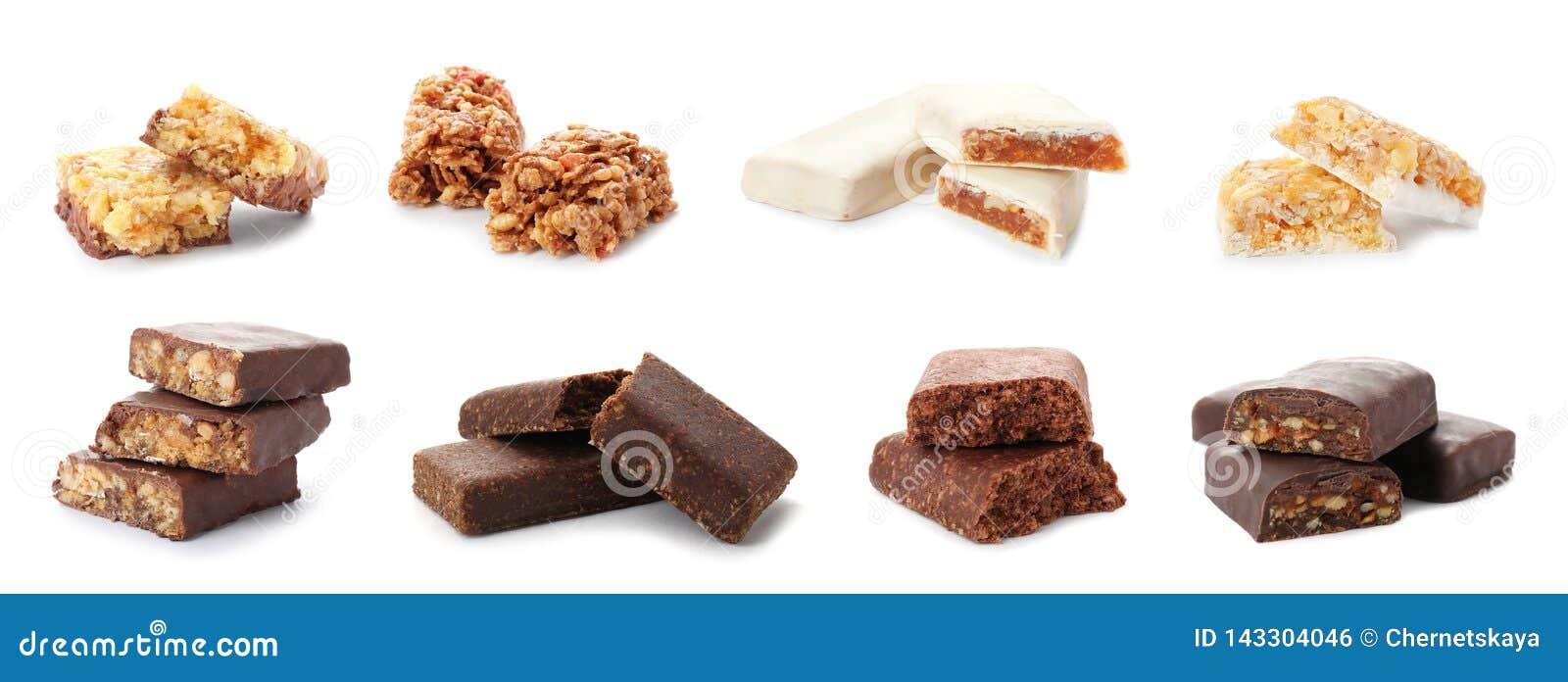 Set różni słodcy proteina bary na bielu