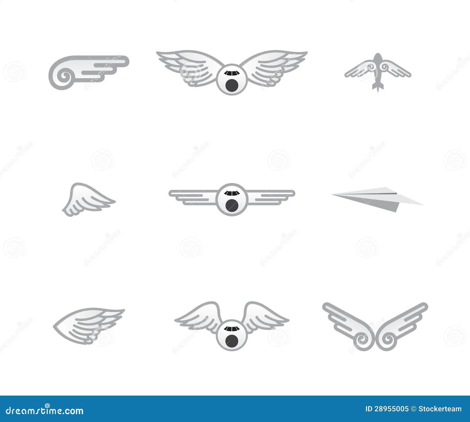 Set różni samolotowi logowie