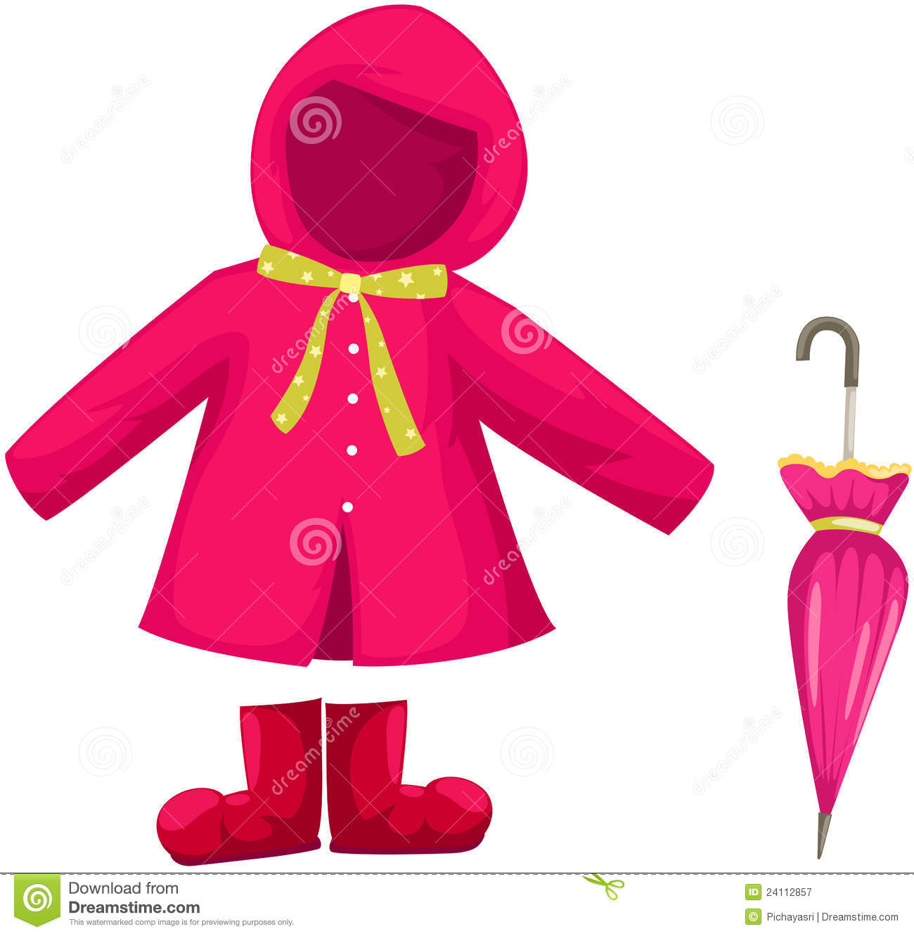set of rain clothes royalty free stock photography   image 24112857