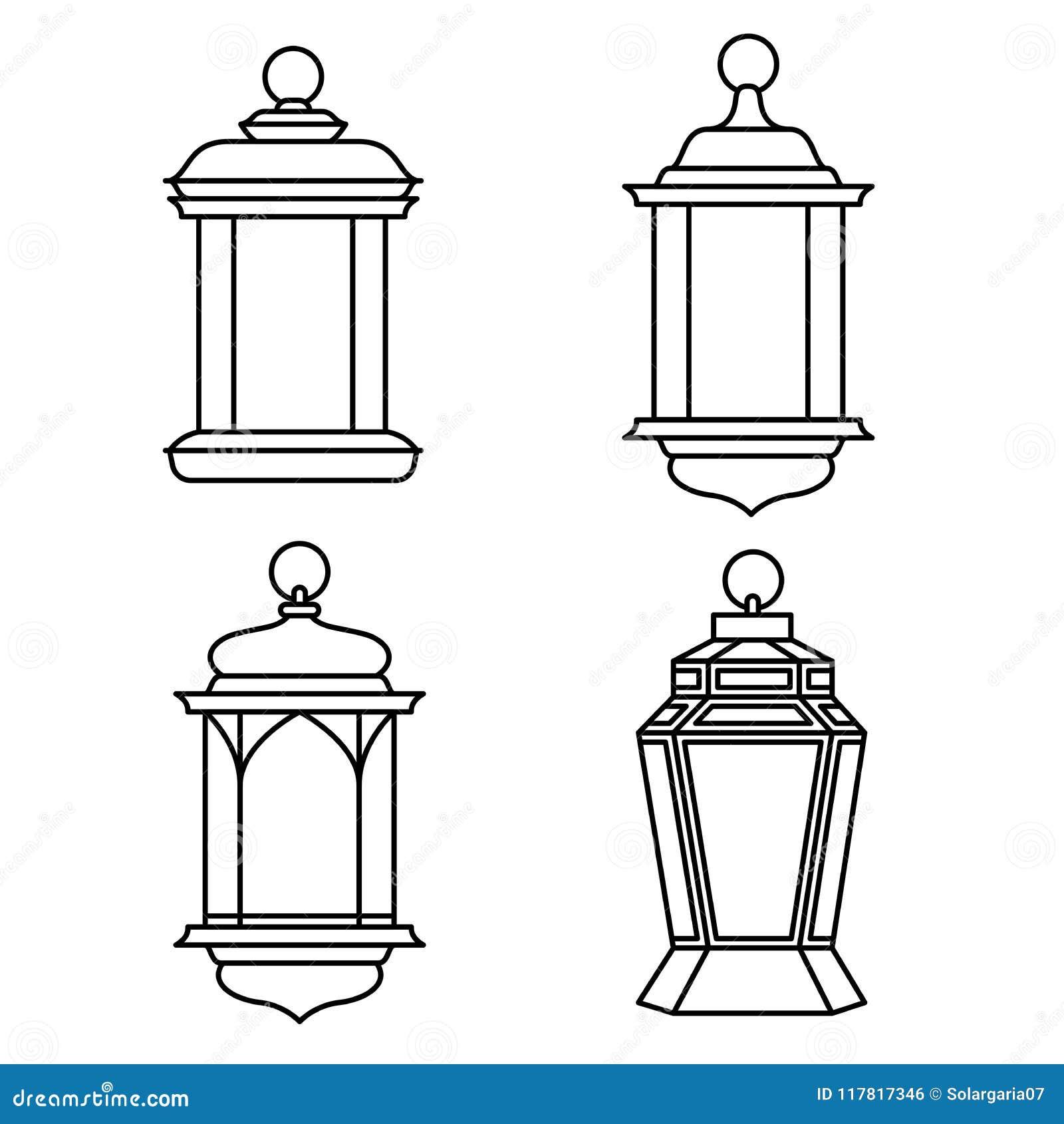 Set Of Ramadan Lanterns Vector Illustration Stock Vector Illustration Of Lanterns Holiday 117817346