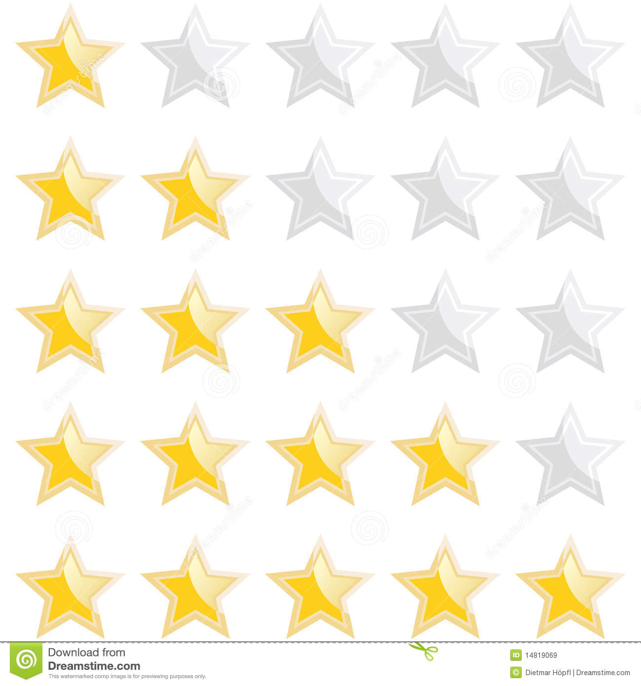 set of rating stars royalty free stock images