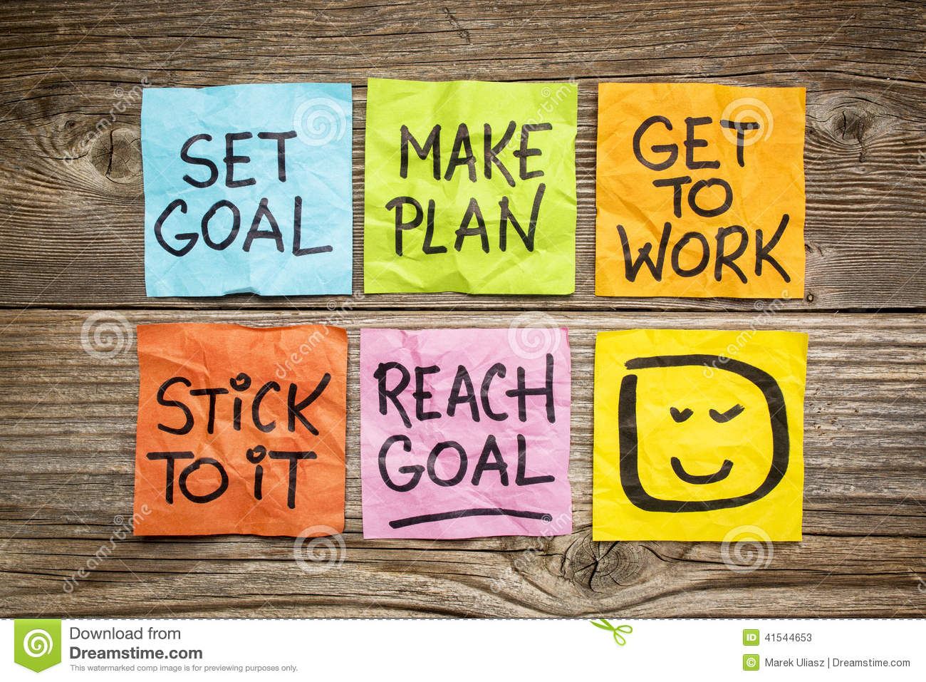 Set And Reach Goal Concept Stock Image  Image Of Note